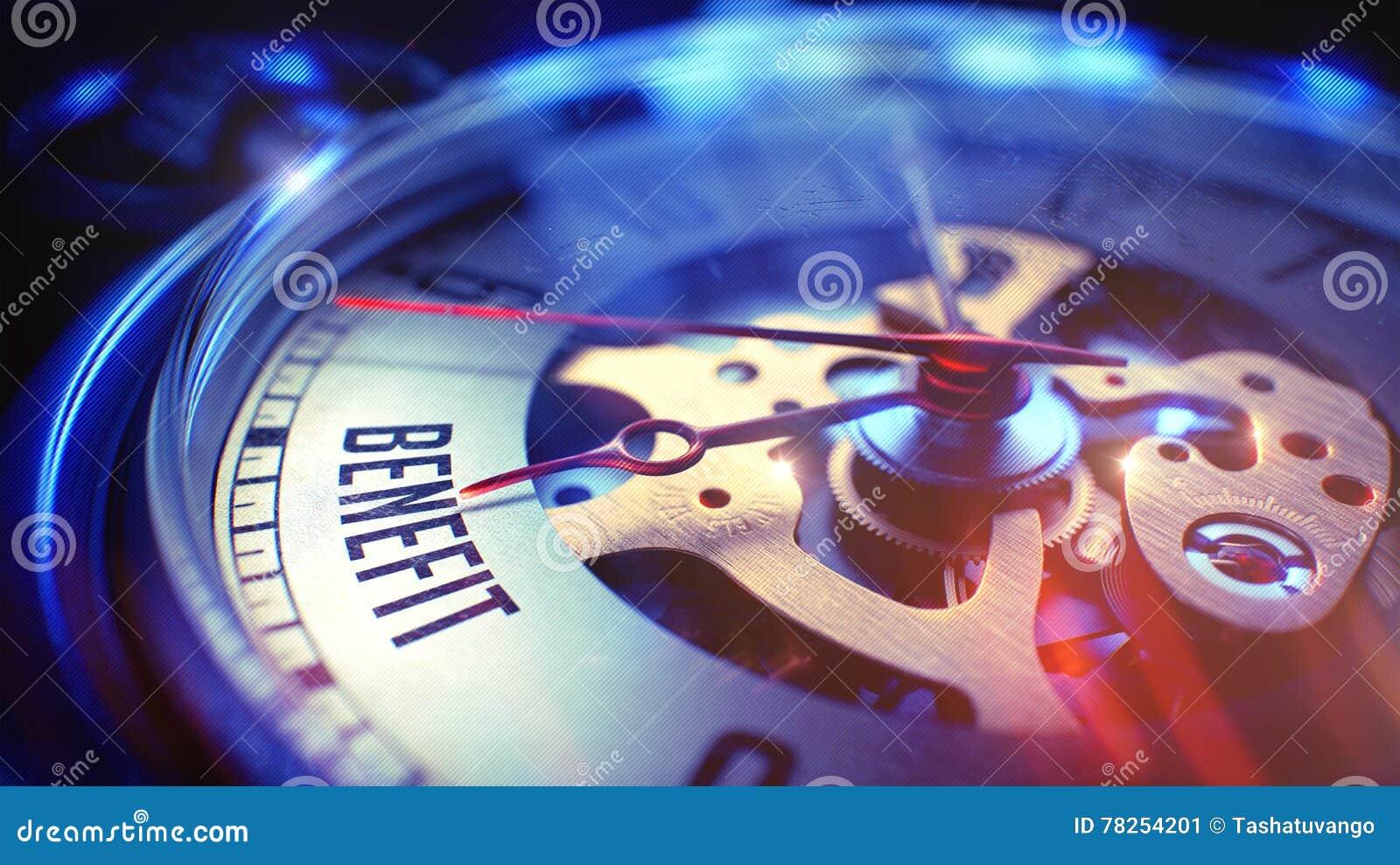 Όφελος - φράση στο εκλεκτής ποιότητας ρολόι τρισδιάστατος