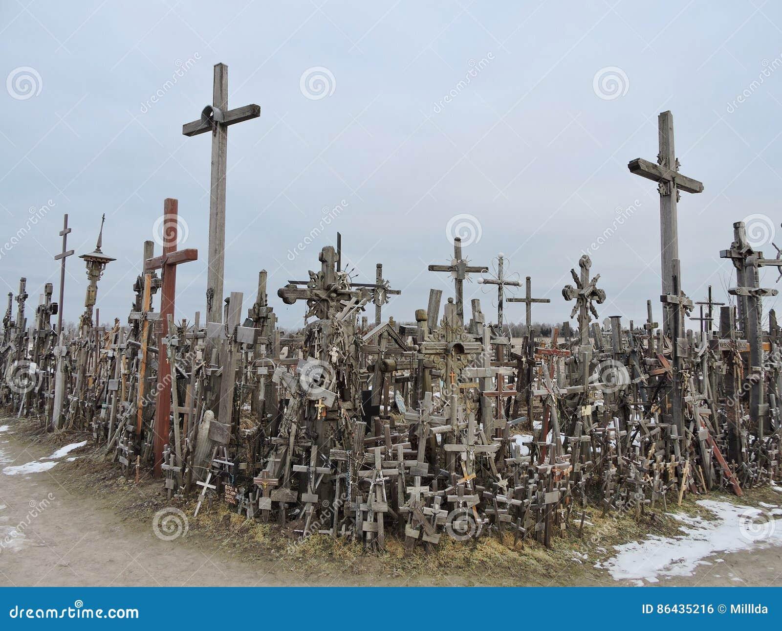 λόφος Λιθουανία σταυρών