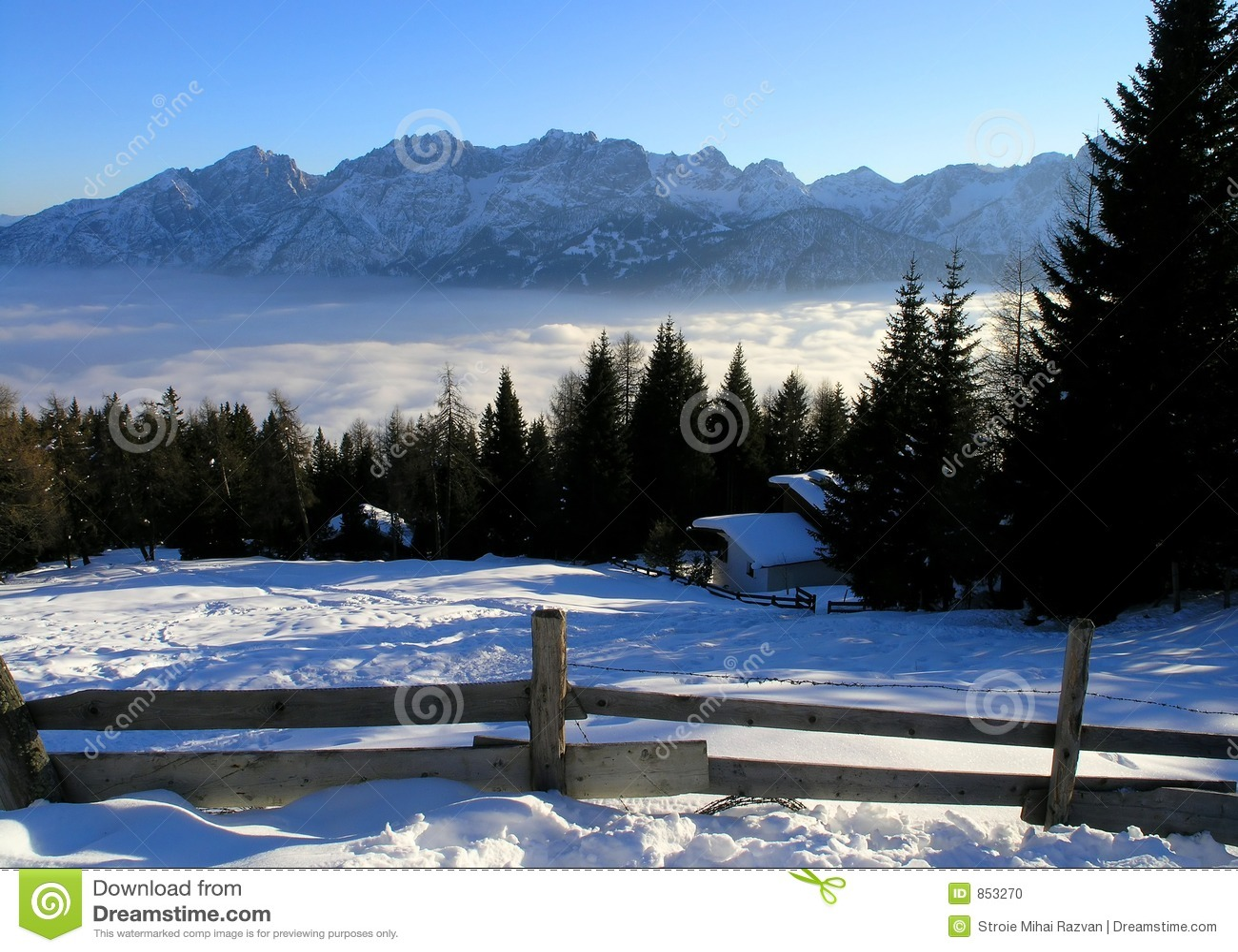όψη βουνών της Αυστρίας lienz