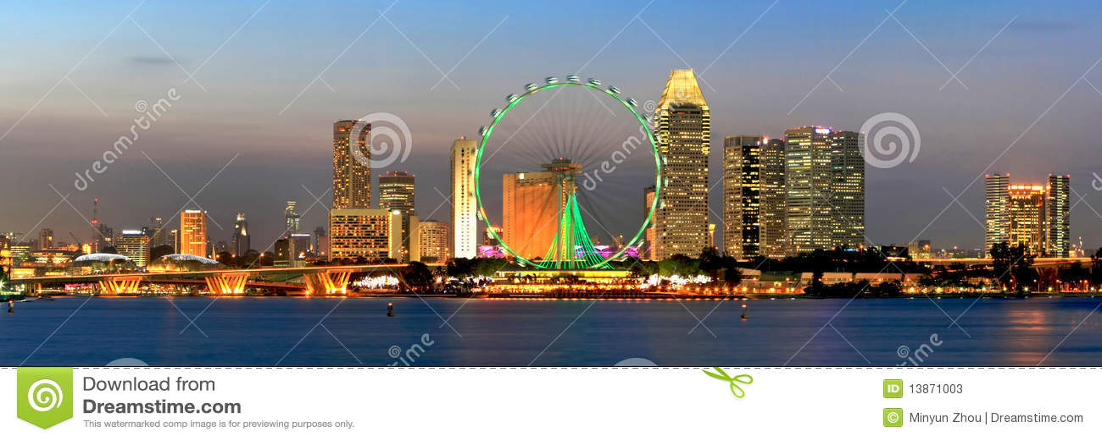 όψη Σινγκαπούρης πανοράματ&