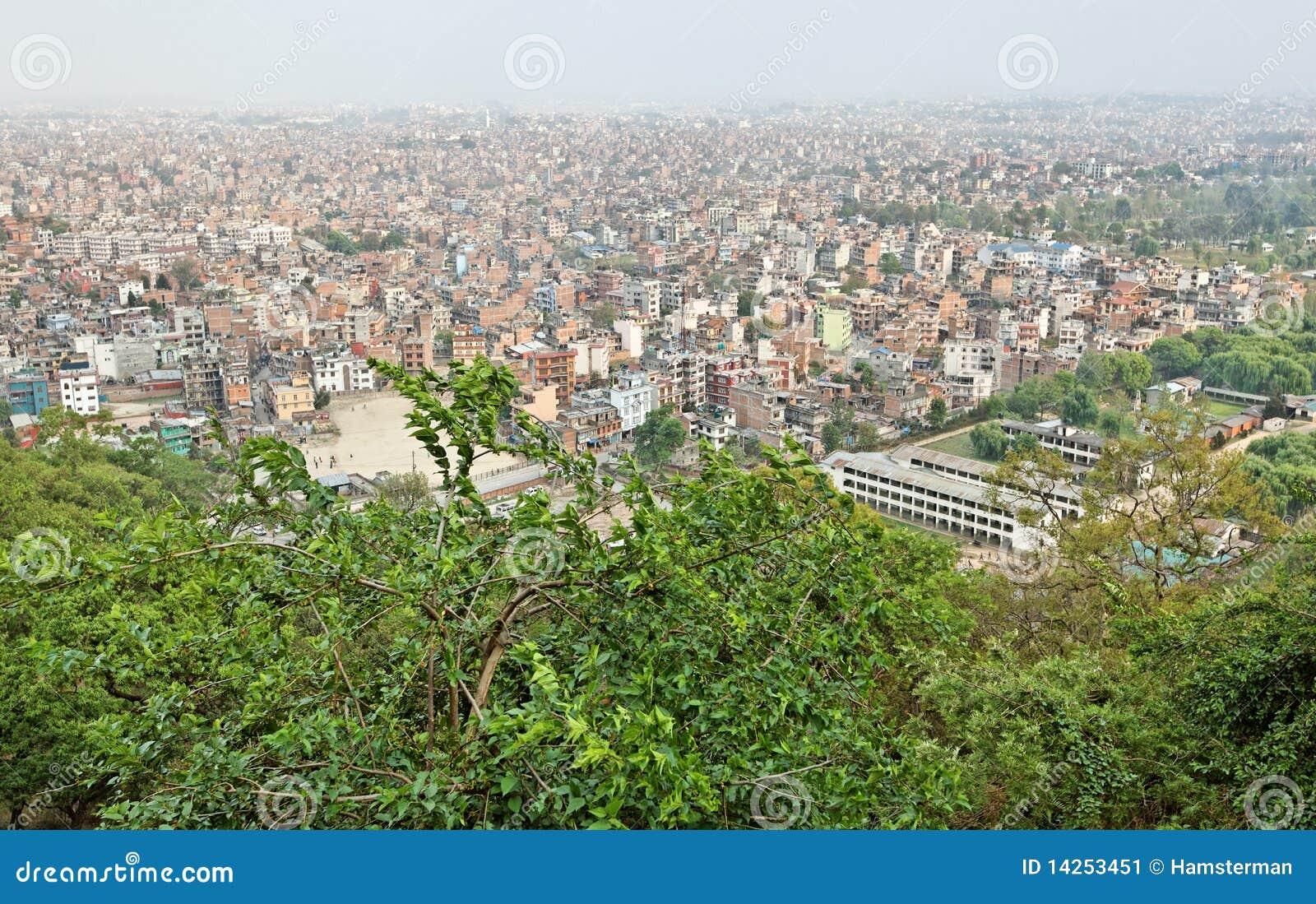 όψη του Κατμαντού Νεπάλ πόλ&eps