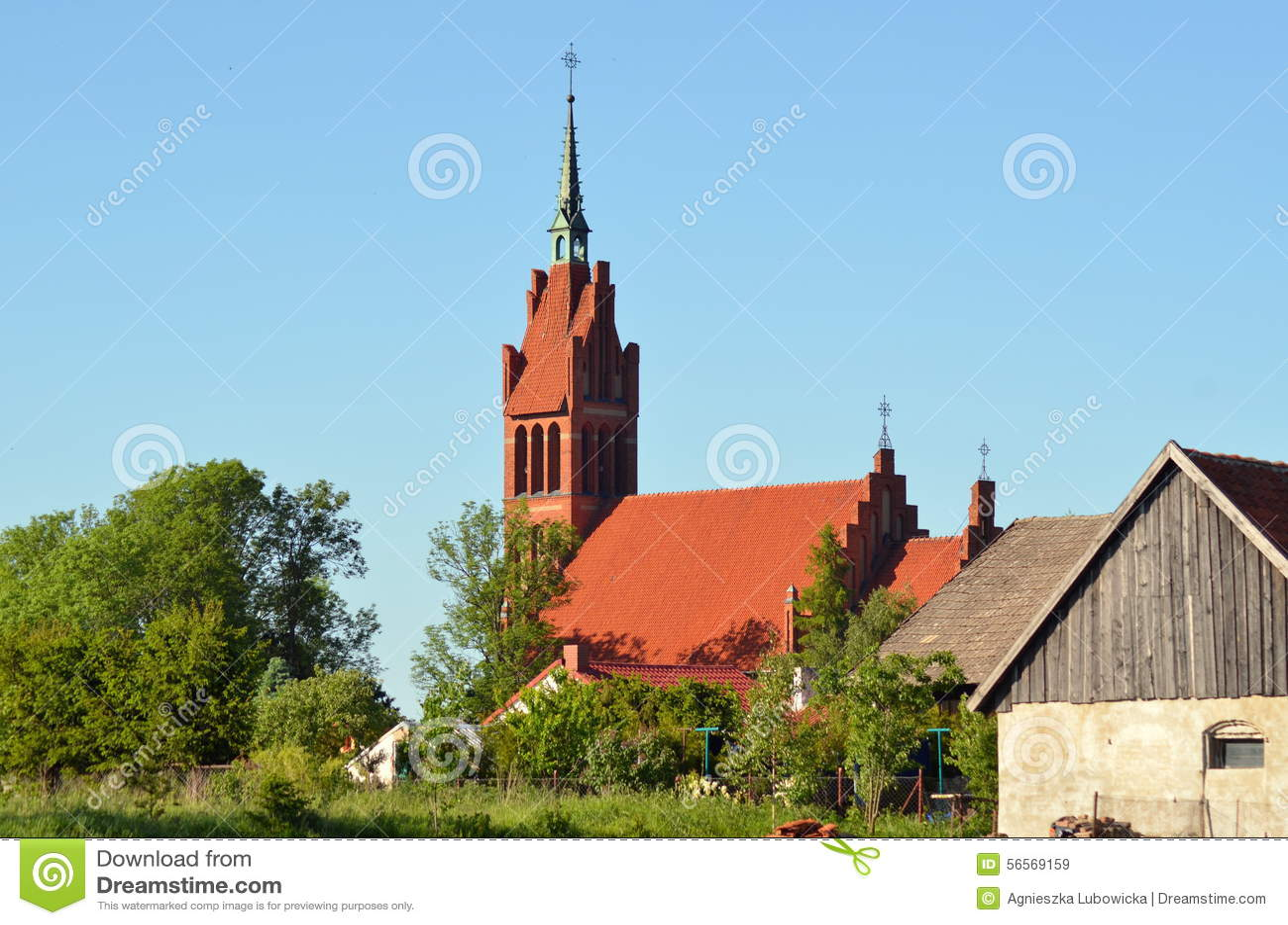 Download Όψη στοκ εικόνα. εικόνα από χωριό, εκκλησία, πύργος, όψη - 56569159