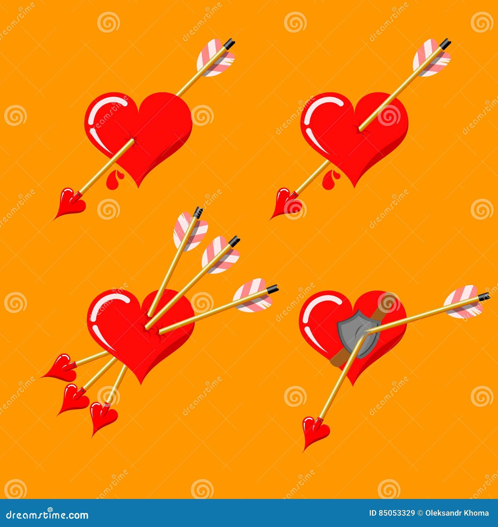 όλα τα editable στοιχεία ημέρας χρώματος cmyk αρχειοθετούν έτοιμο s τρόπου καρδιών βαλμένο σε στρώσεις τον απεικόνιση χωριστά βαλ