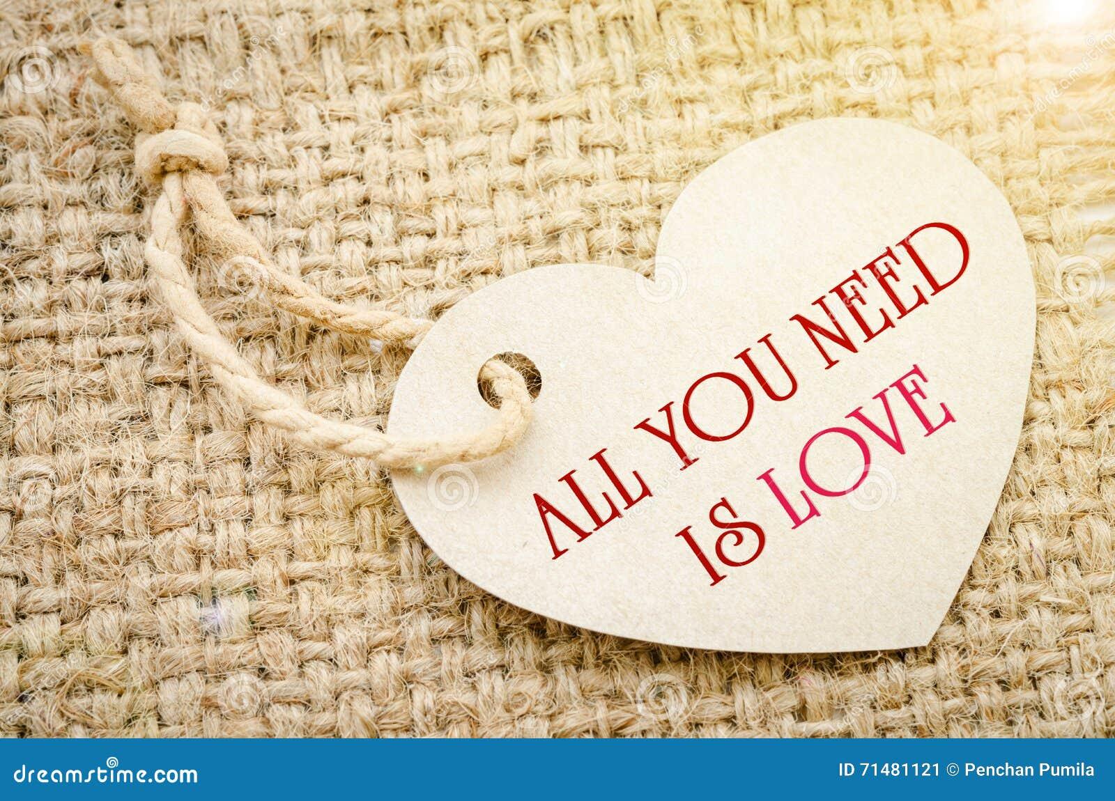 όλη η αγάπη σας χρειάζεται