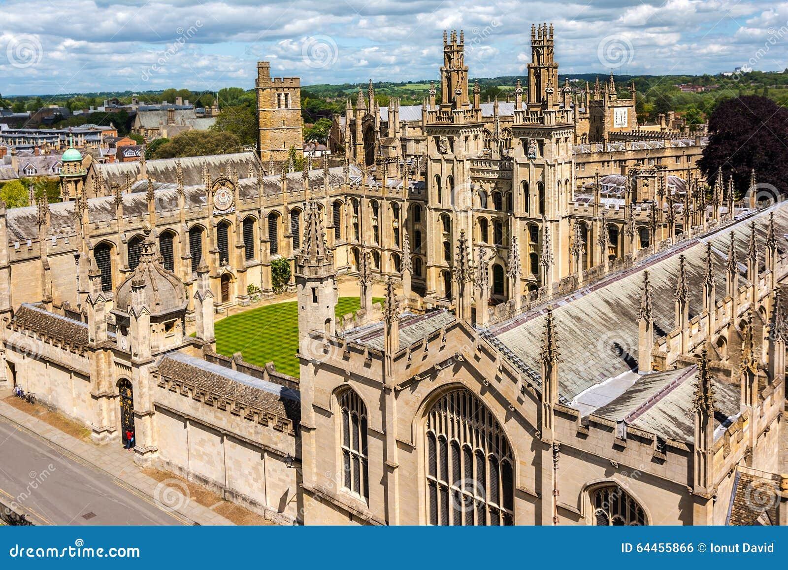 Όλο το κολλέγιο ψυχής, Πανεπιστήμιο της Οξφόρδης