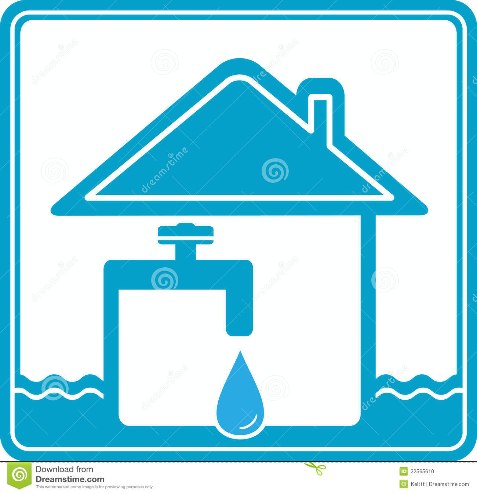 ύδωρ σωλήνων εικονιδίων σ&p