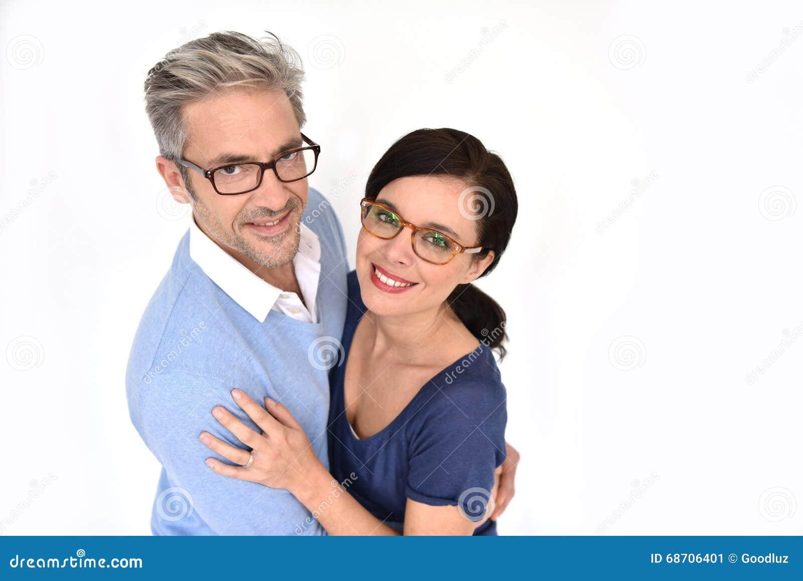 Ώριμο ζεύγος με eyeglasses
