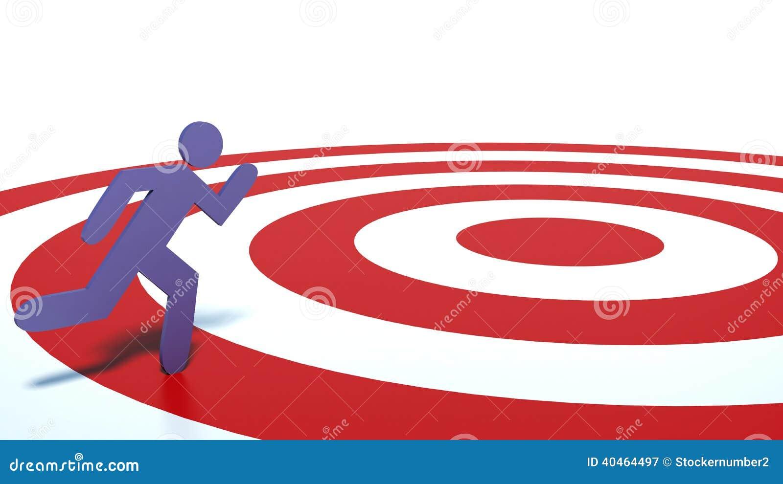 象对目标的人奔跑 库存例证图片