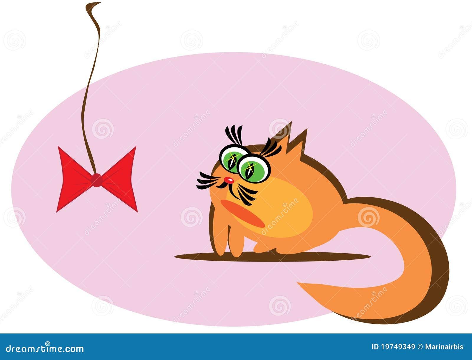 小动画片的猫 免版税库存图片图片