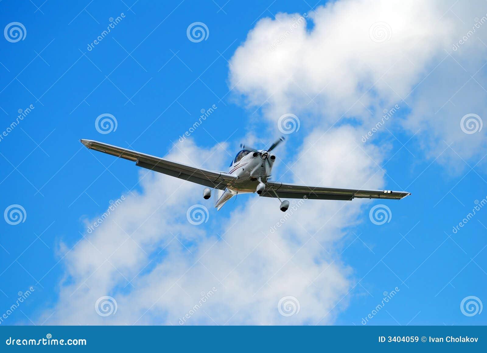小飞机的推进器 免版税库存图片