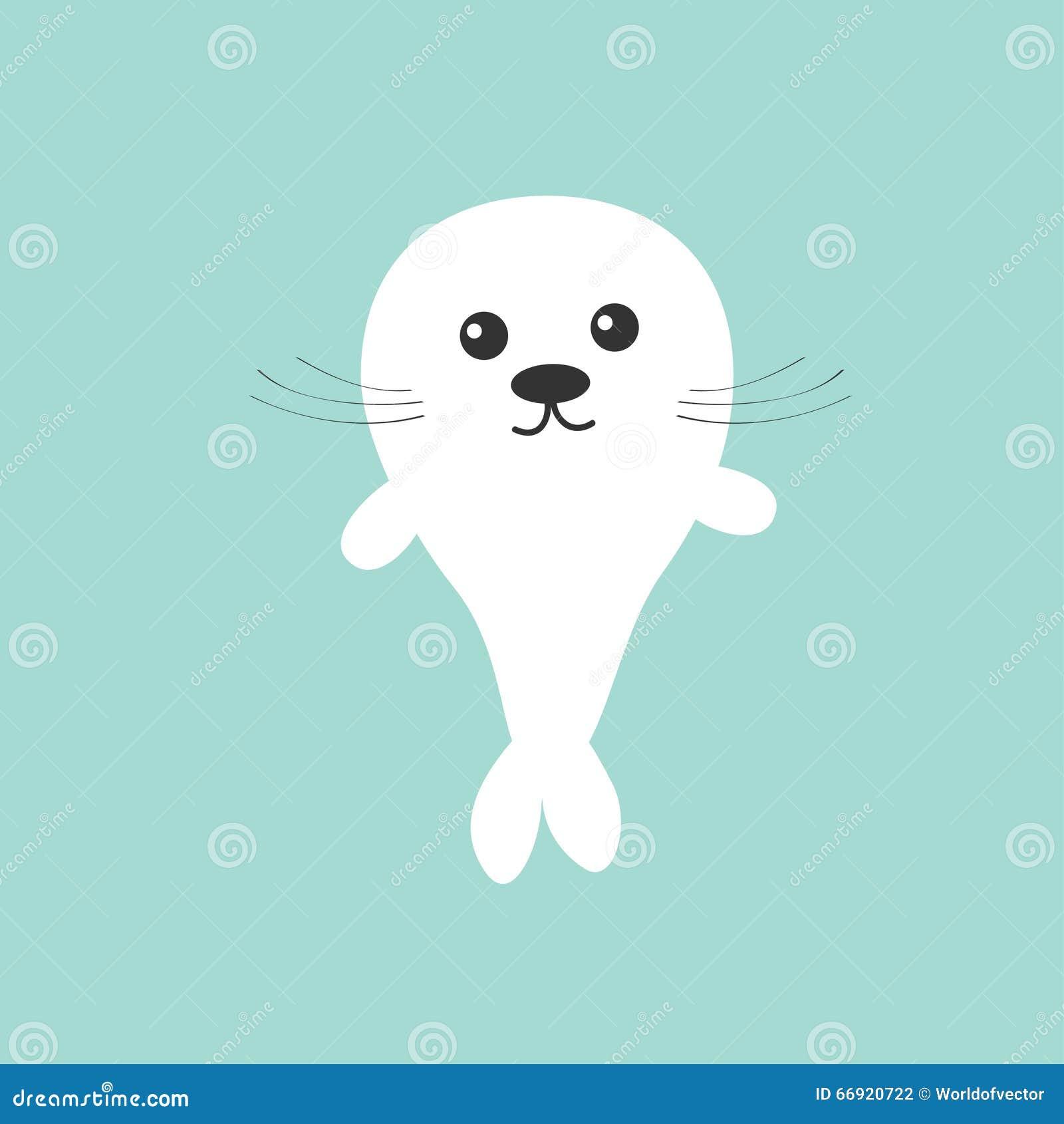 小海豹婴孩竖琴 逗人喜爱的漫画人物 背景看板卡祝贺邀请 平的设计图片