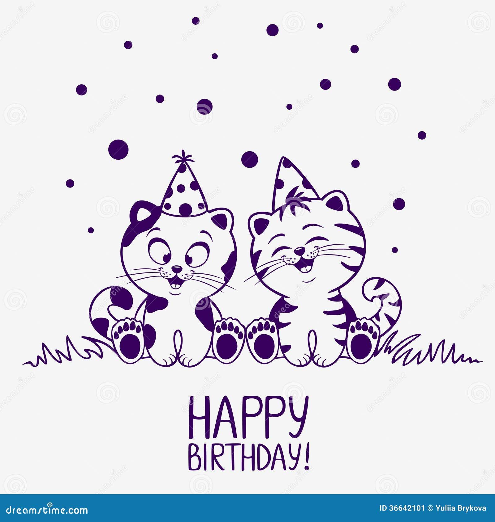 小猫生日 库存图片 - 图片