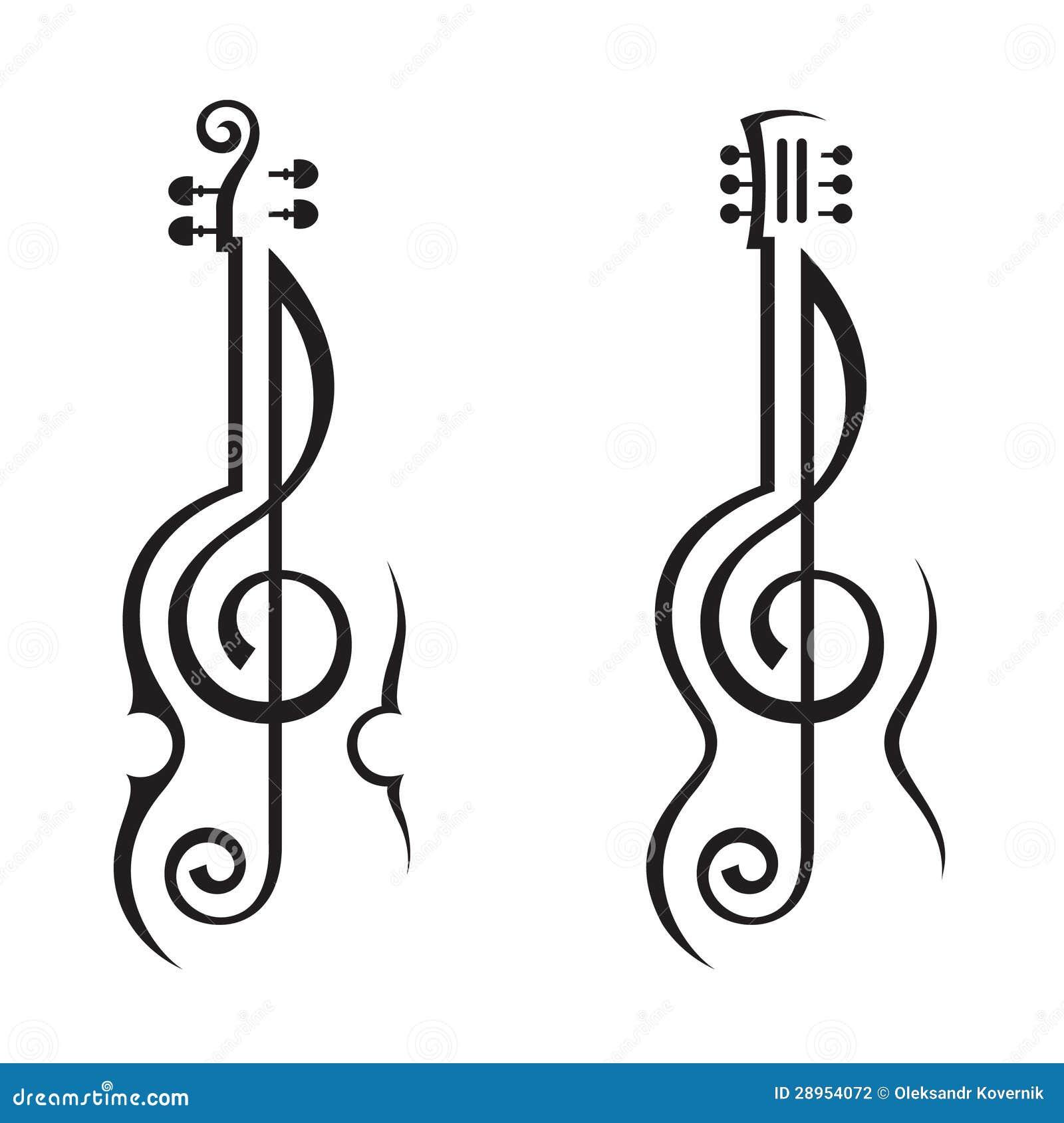 吉他和高音谱号