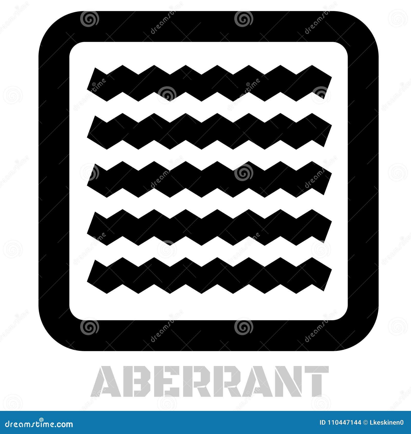 Аберрантный схематический графический значок