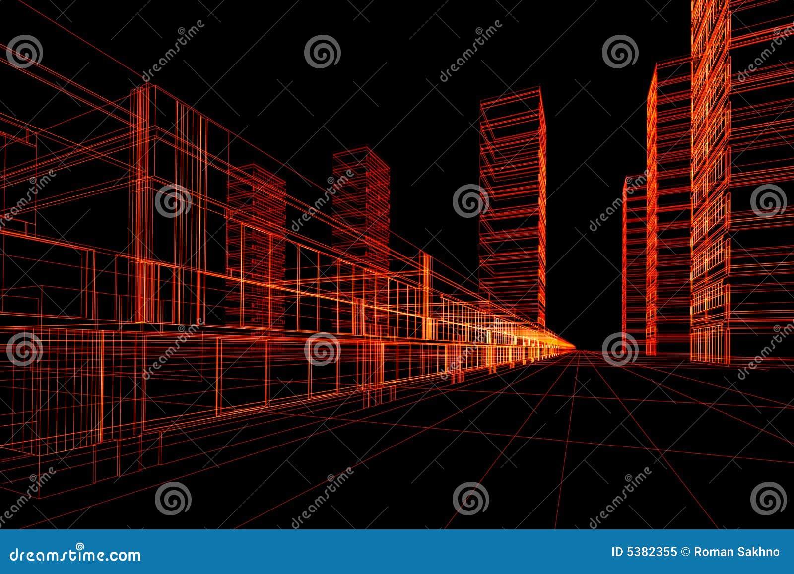 абстрактная архитектурноакустическая конструкция