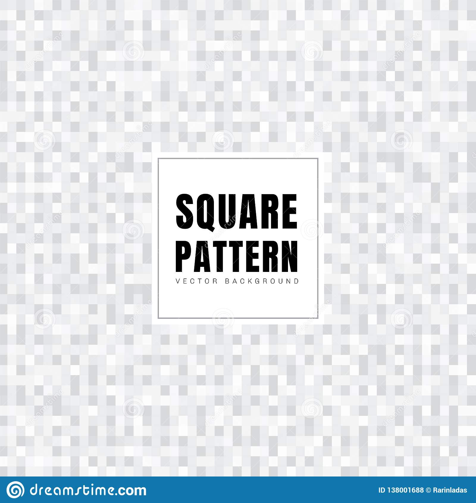 Абстрактная белая и серая текстура предпосылки картины квадратов Геометрический стиль Решетка мозаики