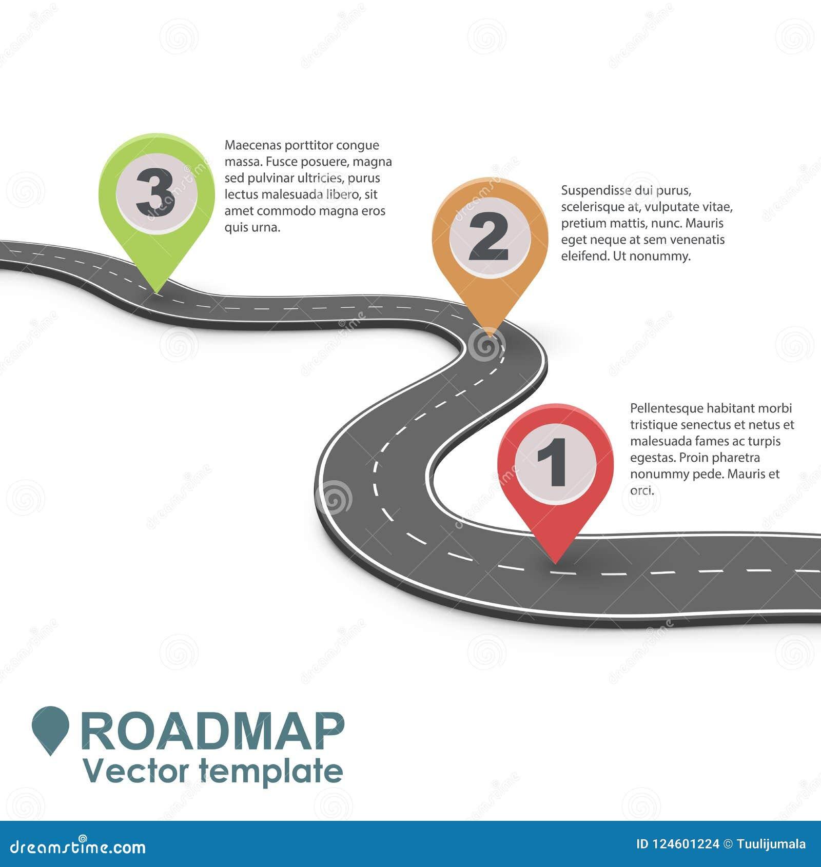 Абстрактная дорожная карта Infographic дела