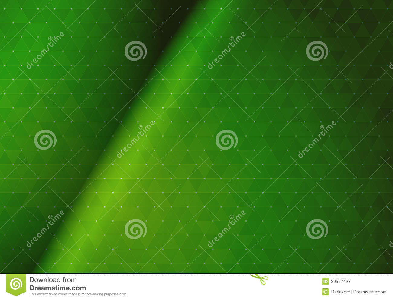 Абстрактная зеленая триангулярная предпосылка