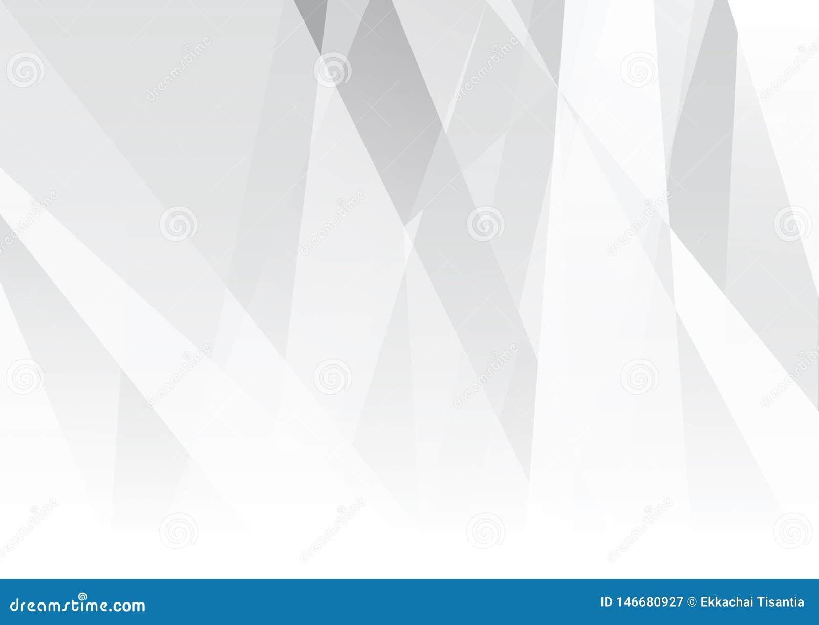 Абстрактная иллюстрация вектора дизайна предпосылки белой и серой технологии цвета современная