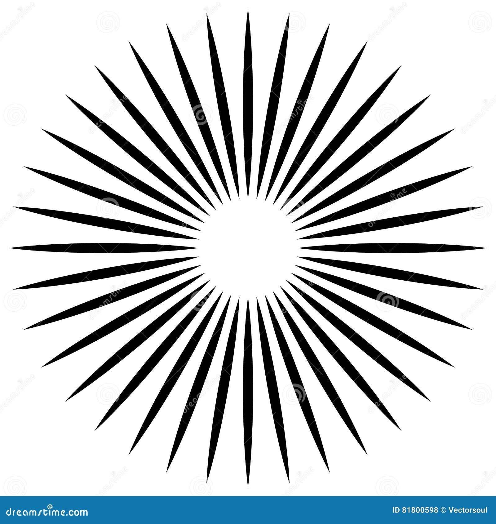 Абстрактная иллюстрация круговой картины с radial, radiati