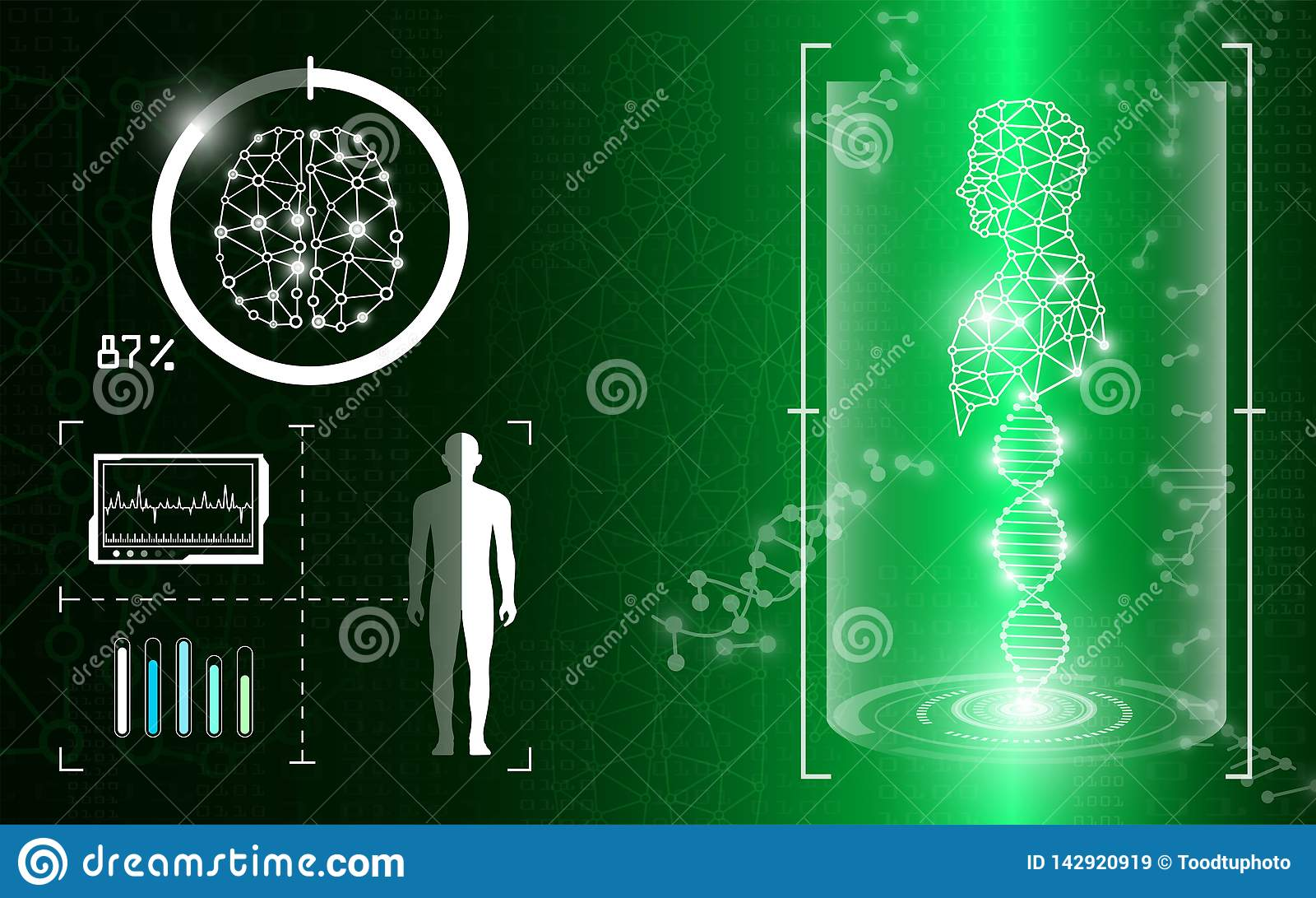 Абстрактная концепция технологии предпосылки в зеленом свете