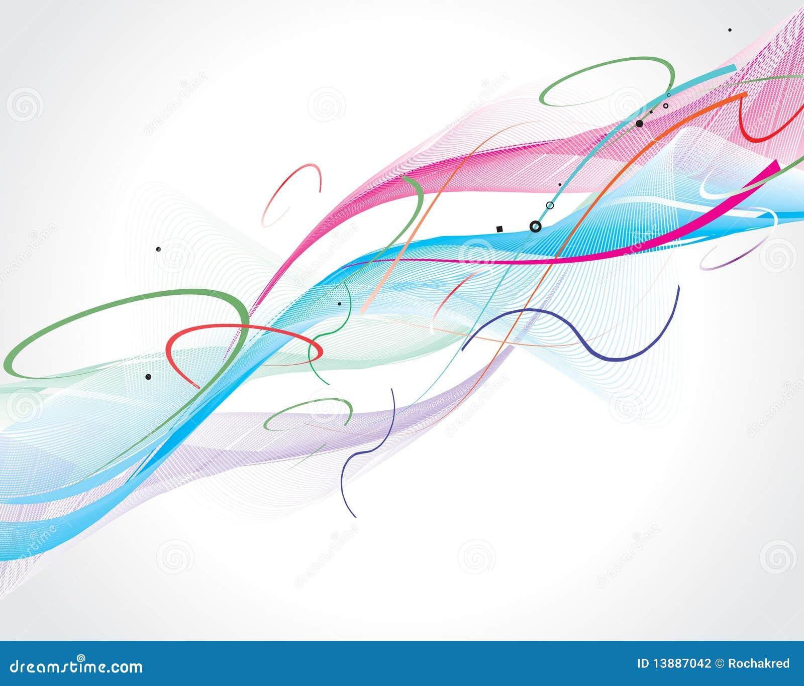 абстрактная линия волна радуги