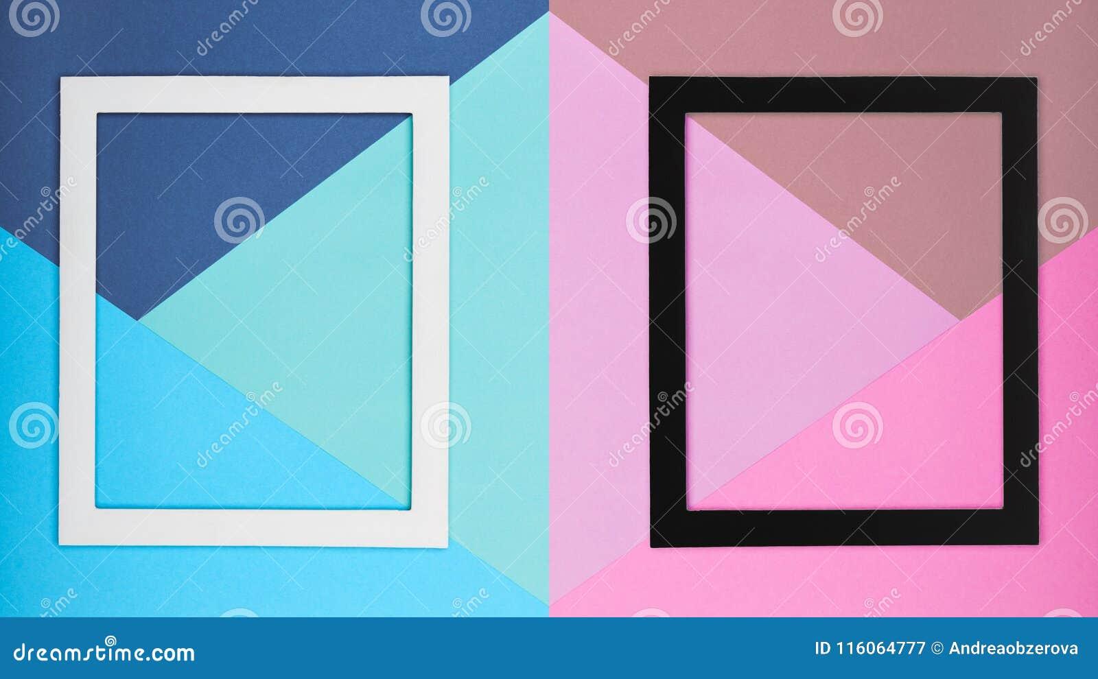 Абстрактная пестротканая бумажная предпосылка минимализма текстуры Минимальные геометрические формы и линии состав с картинной ра