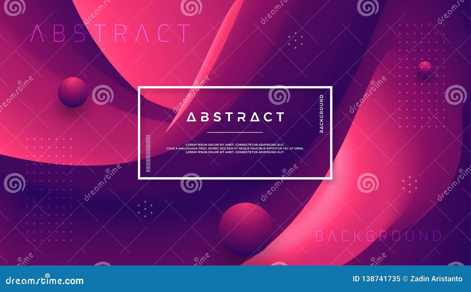 Абстрактная предпосылка волны градиента с пурпуром сочетания из красным и темным Динамическая подача цвета предпосылки Вектор Eps
