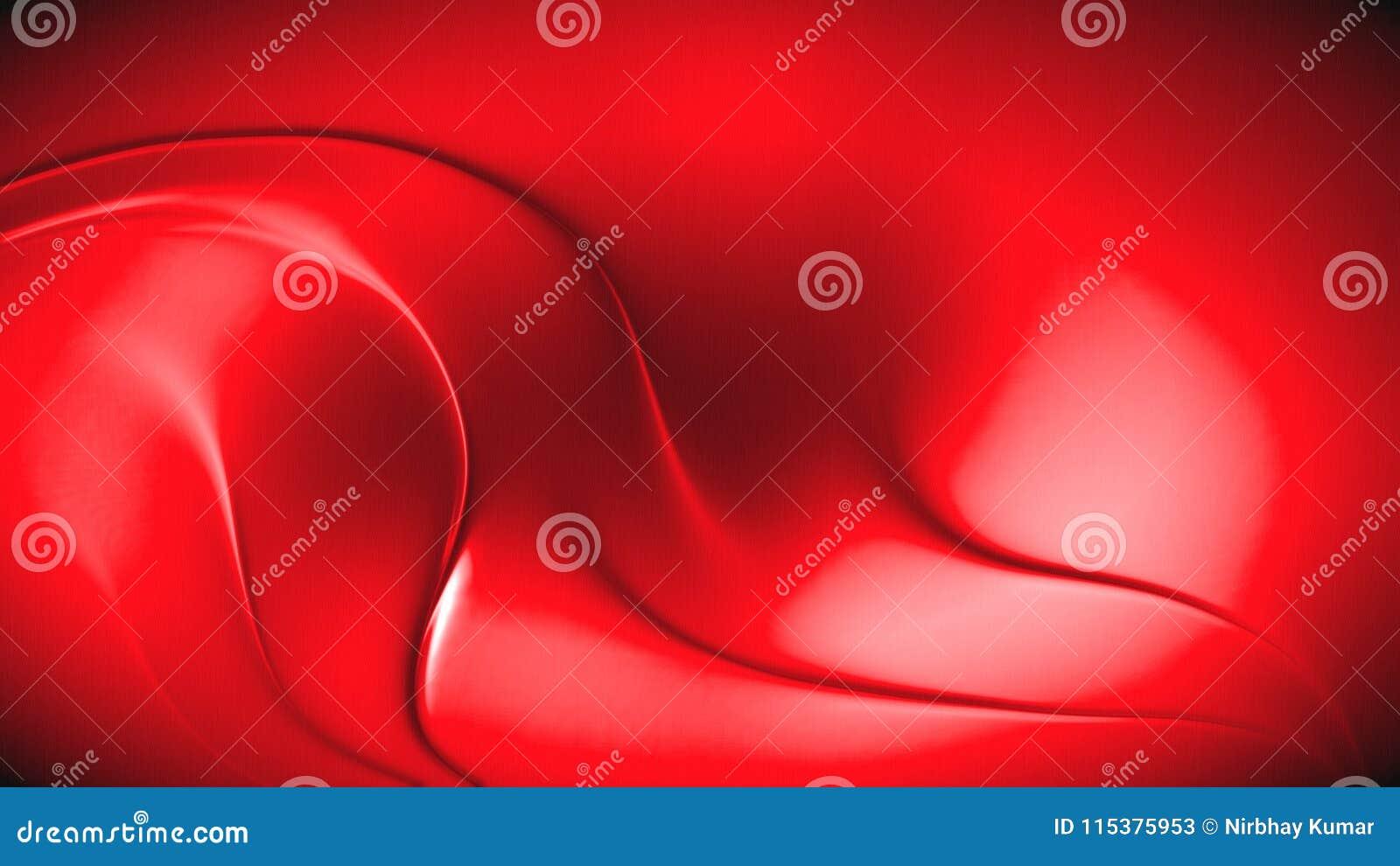 Абстрактная предпосылка волны красного цвета 3d
