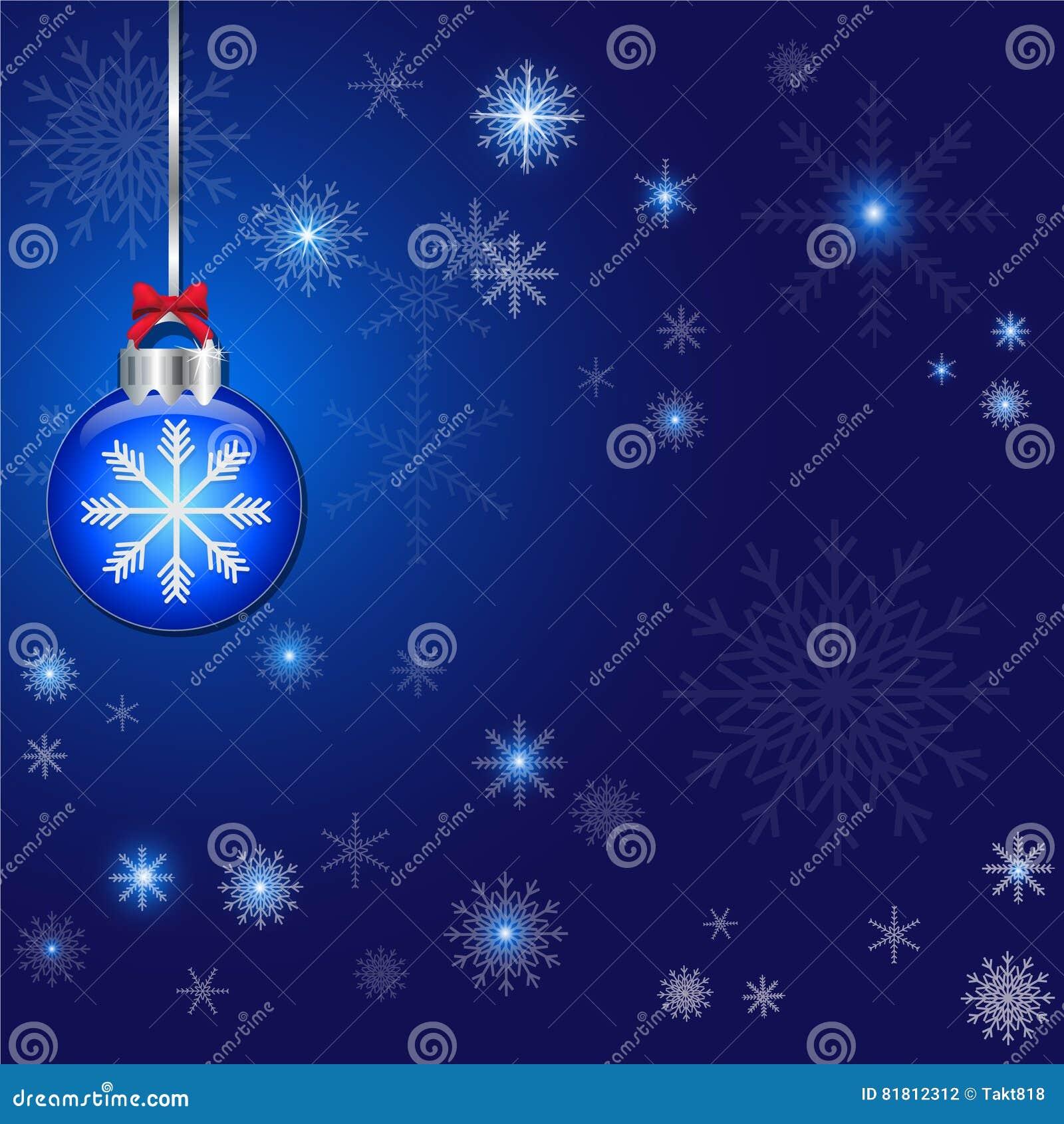 Абстрактная предпосылка сини украшения рождества и шарика