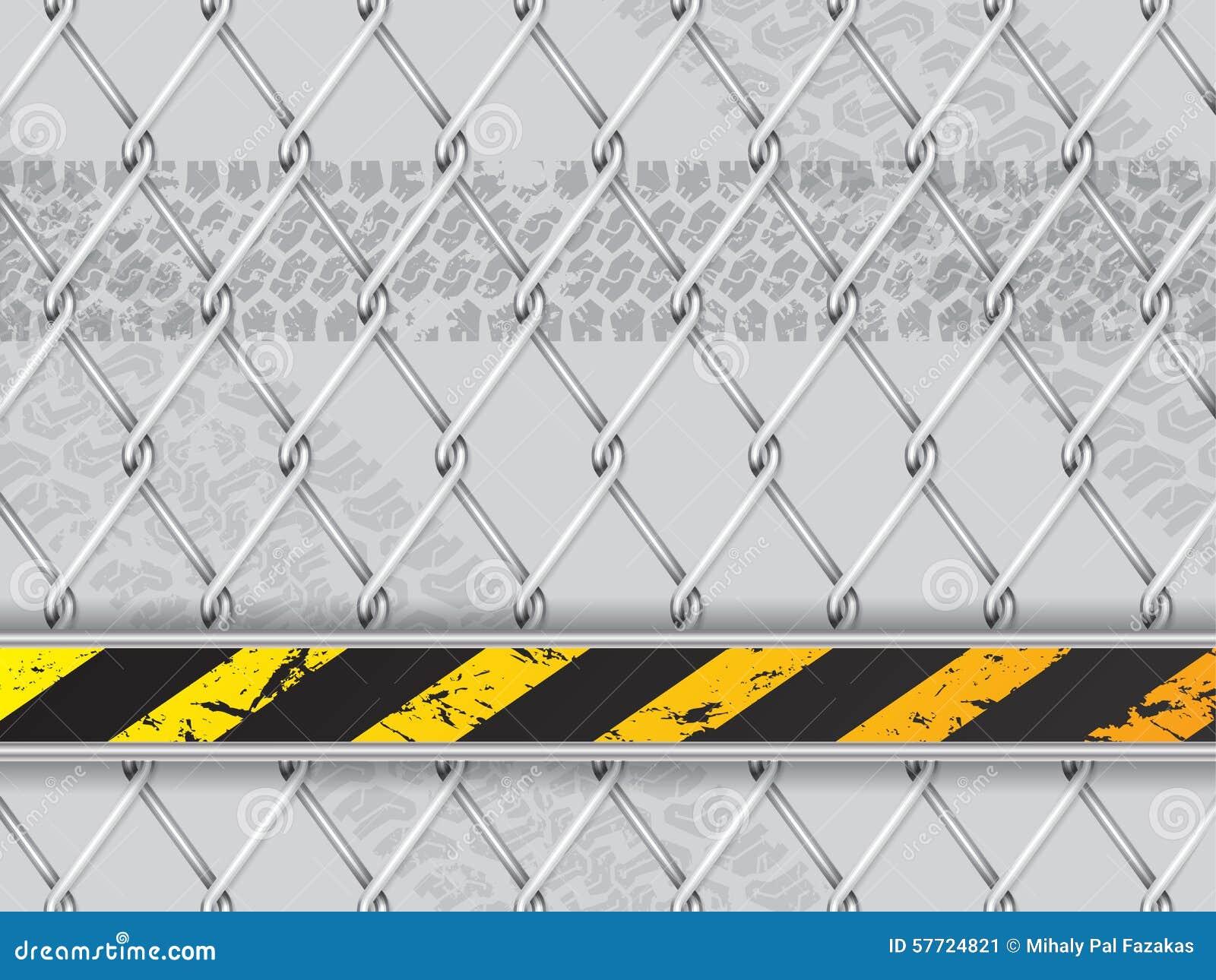 Абстрактная промышленная предпосылка с связанной проволокой загородкой