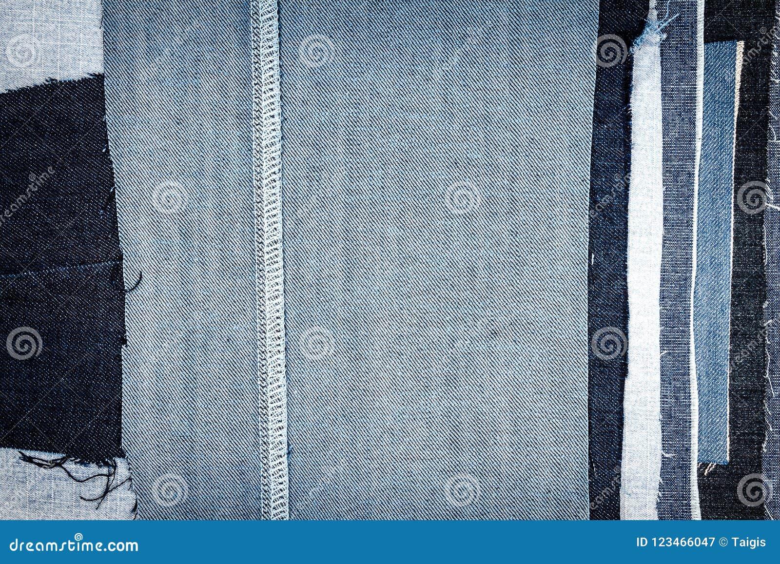 Абстрактная различная предпосылка текстуры нашивок джинсов