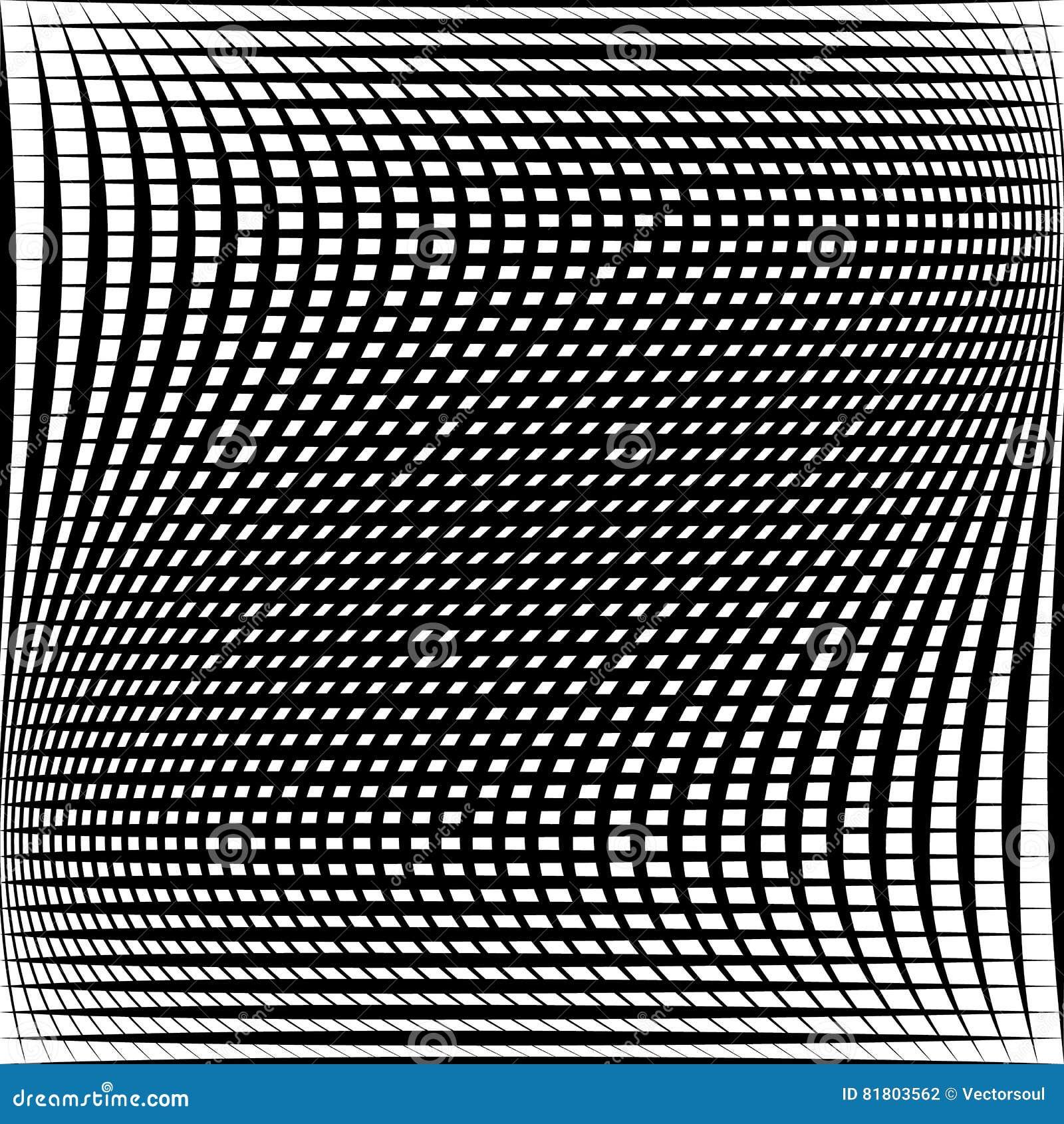 Абстрактная решетка, картина сетки с эффектом искажения
