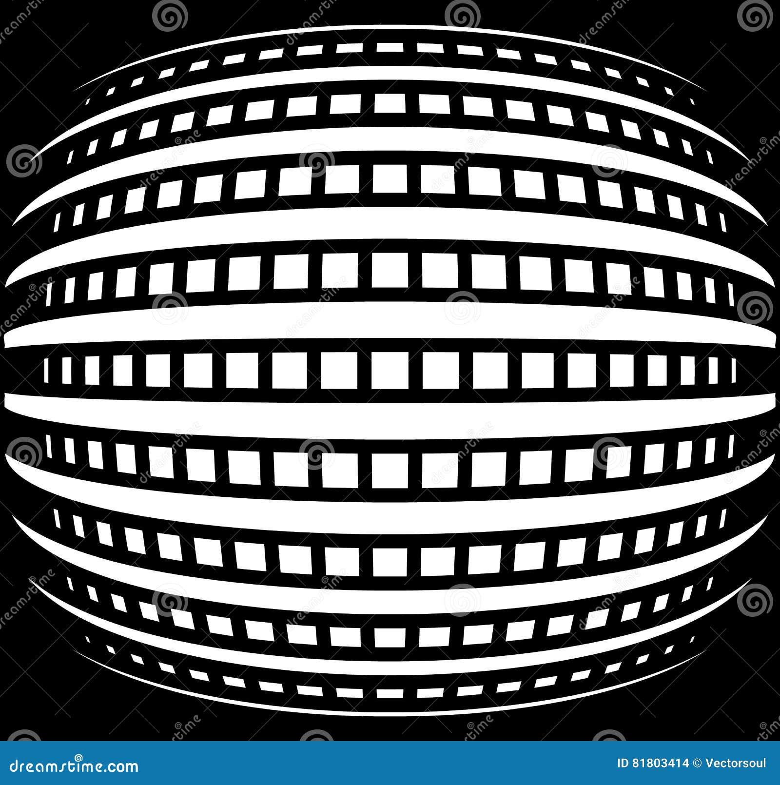 Абстрактная решетка с выпуклым, сферически влиянием искривления
