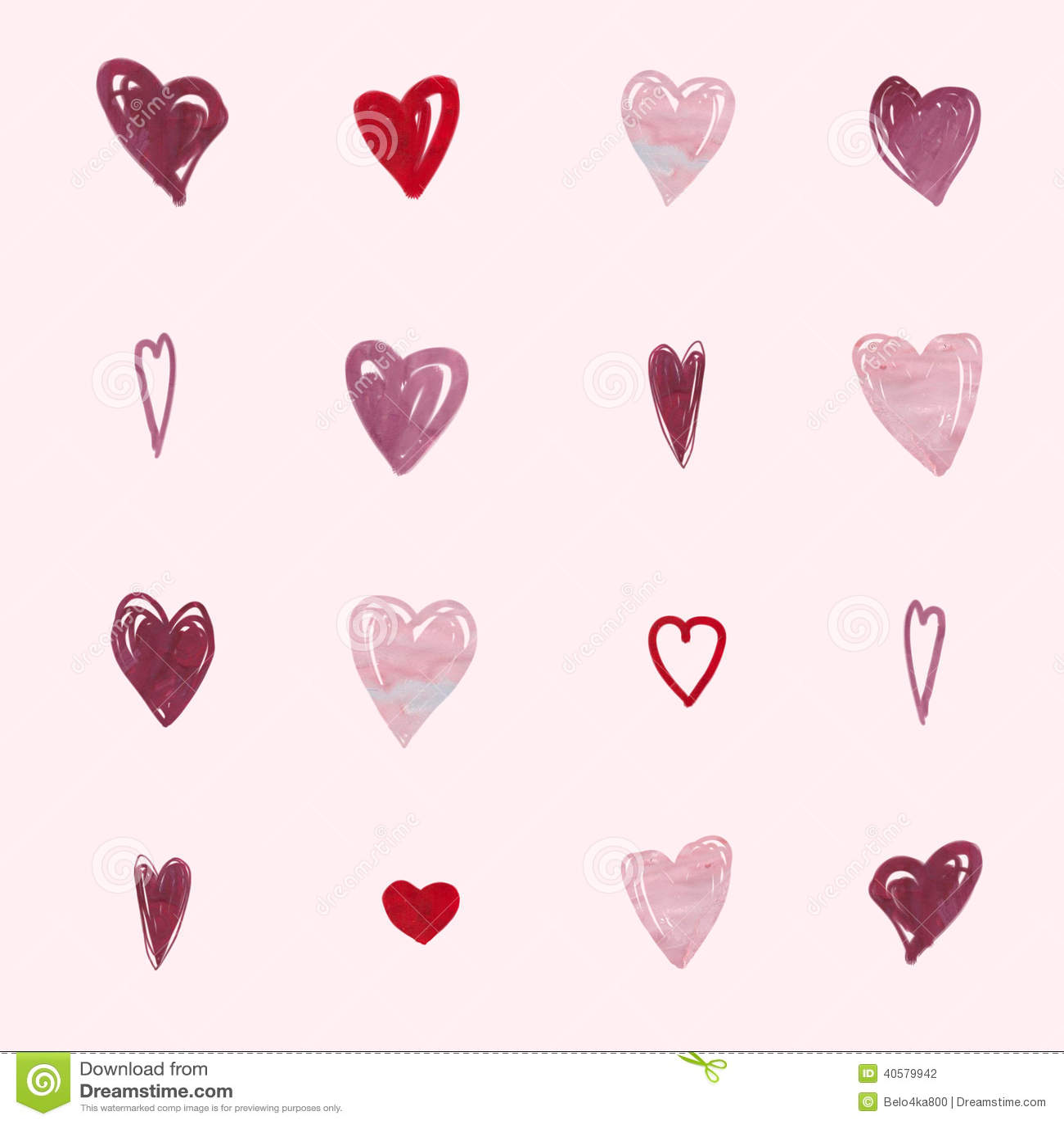 Абстрактная романтичная картина предпосылки Сердце акварели