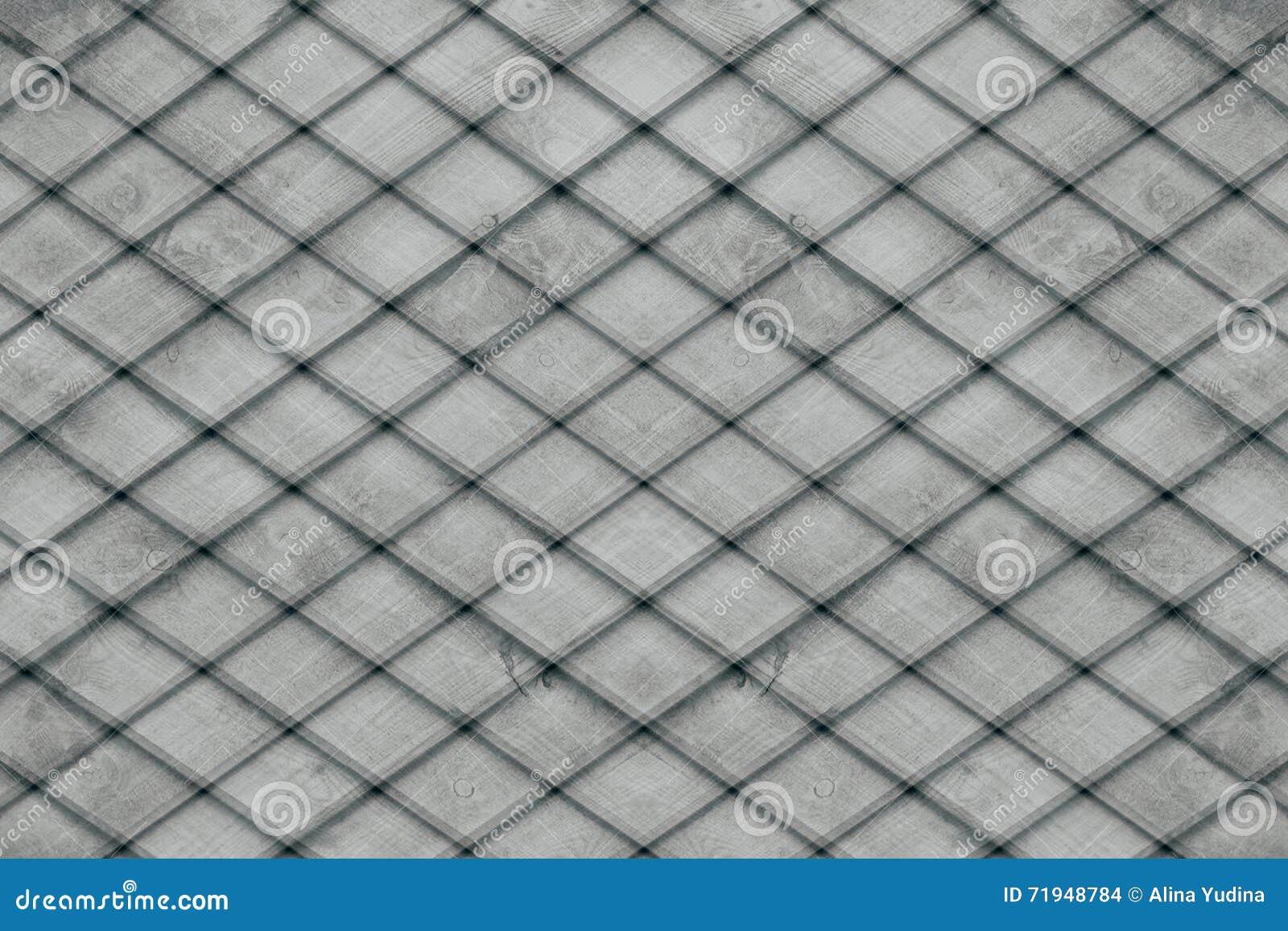 Абстрактная серая предпосылка деревянных планок шотландка предпосылки Абстрактная minimalistic картина lozenges