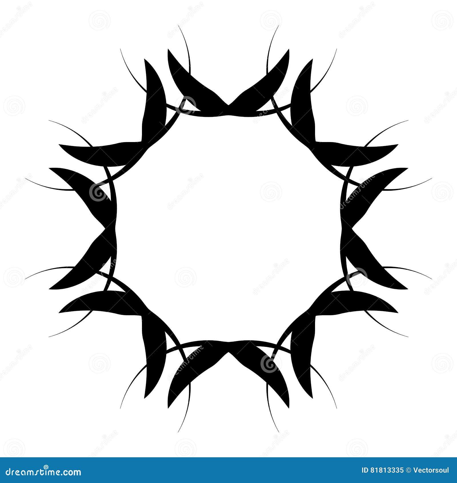 Абстрактная спиральная форма Элемент свирли с радиальными линиями Аннотация