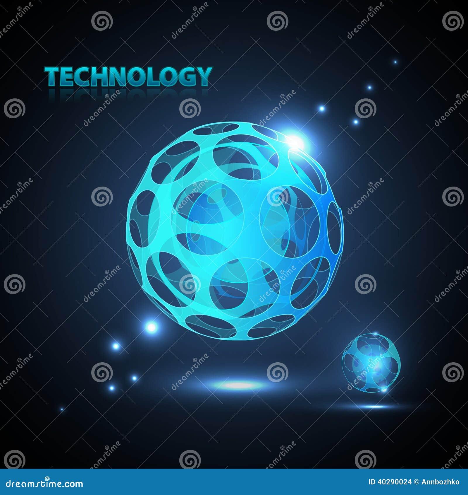 Абстрактная сфера технологии 3d.