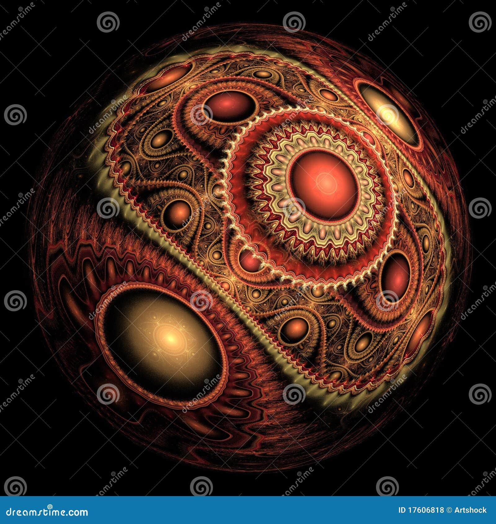 абстрактная сфера фрактали