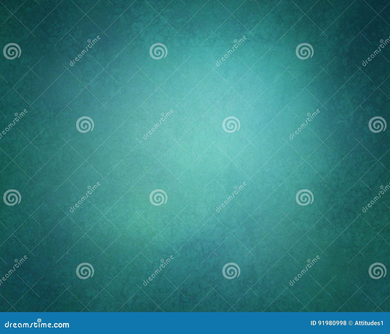 Абстрактная твердая предпосылка в оттенках синего и зеленого цвета с мягким grunge освещения и года сбора винограда текстурировал
