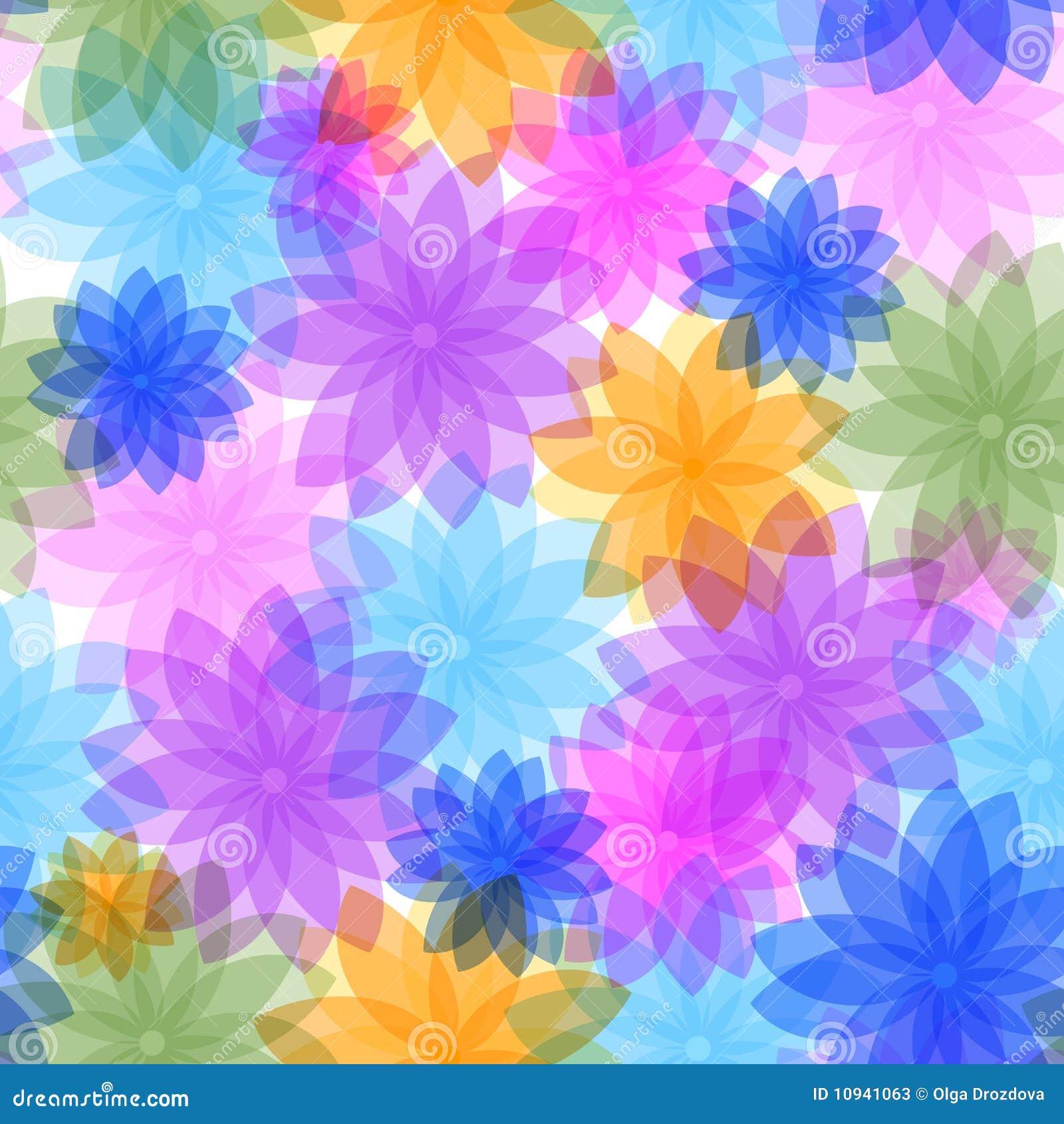 абстрактная флористическая картина безшовная