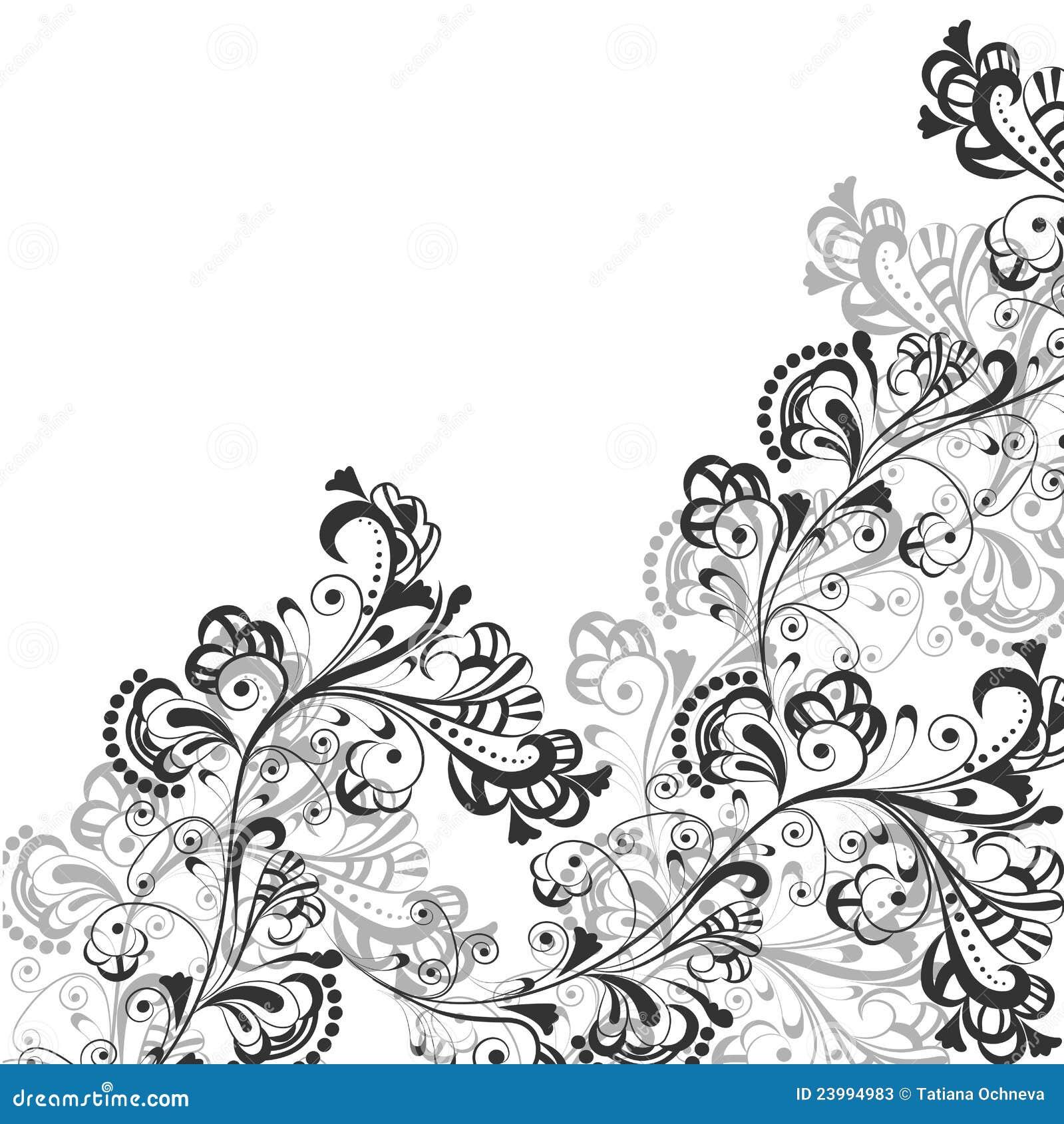 абстрактная флористическая картина 2
