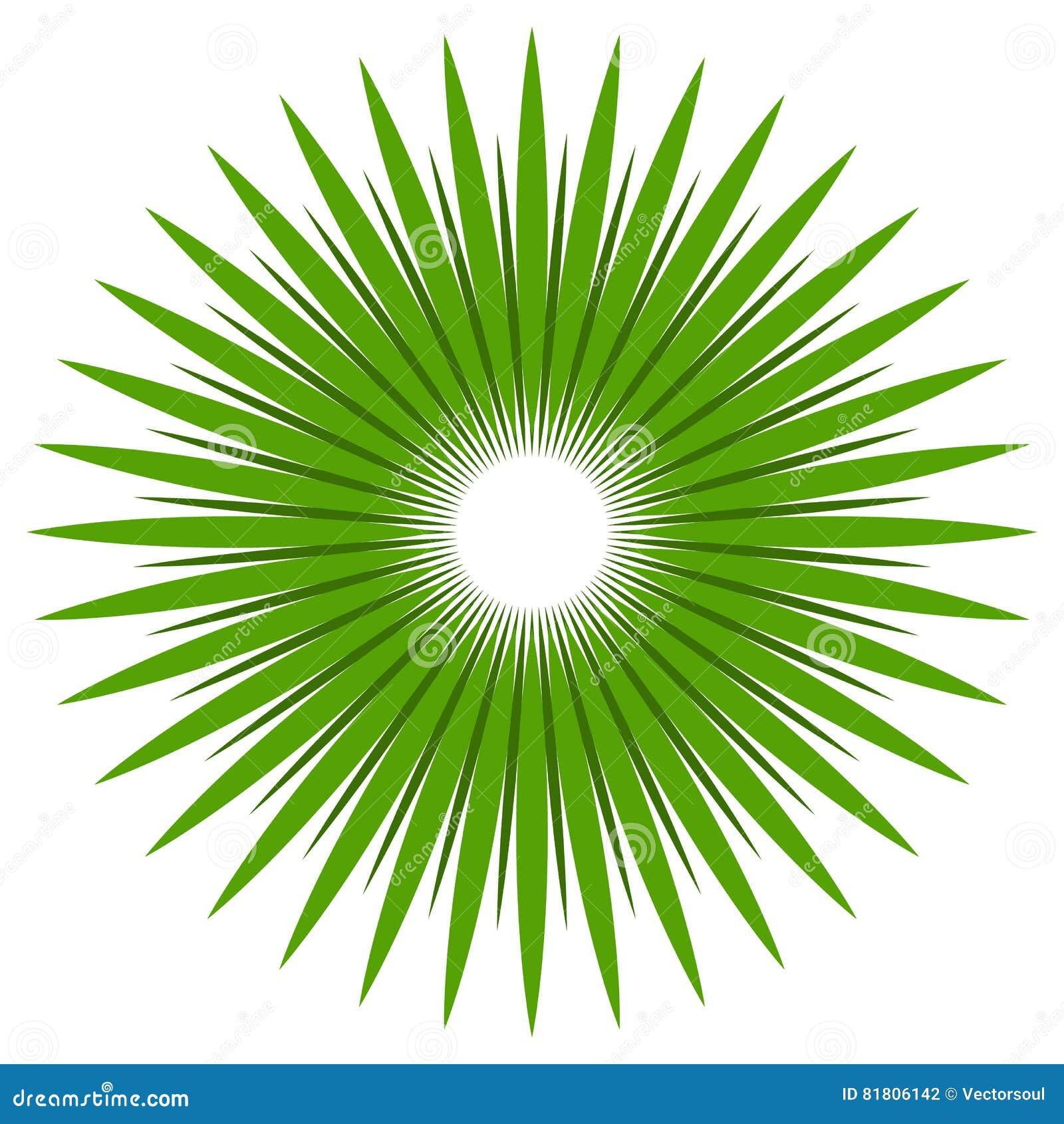 Абстрактная форма с круговыми линиями для концепций природы Радиальный l
