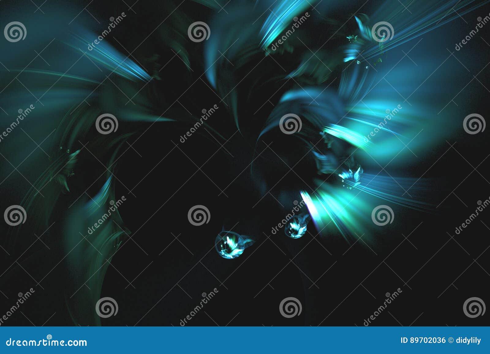 Абстрактная фракталь проиллюстрировала обои представленные предпосылкой