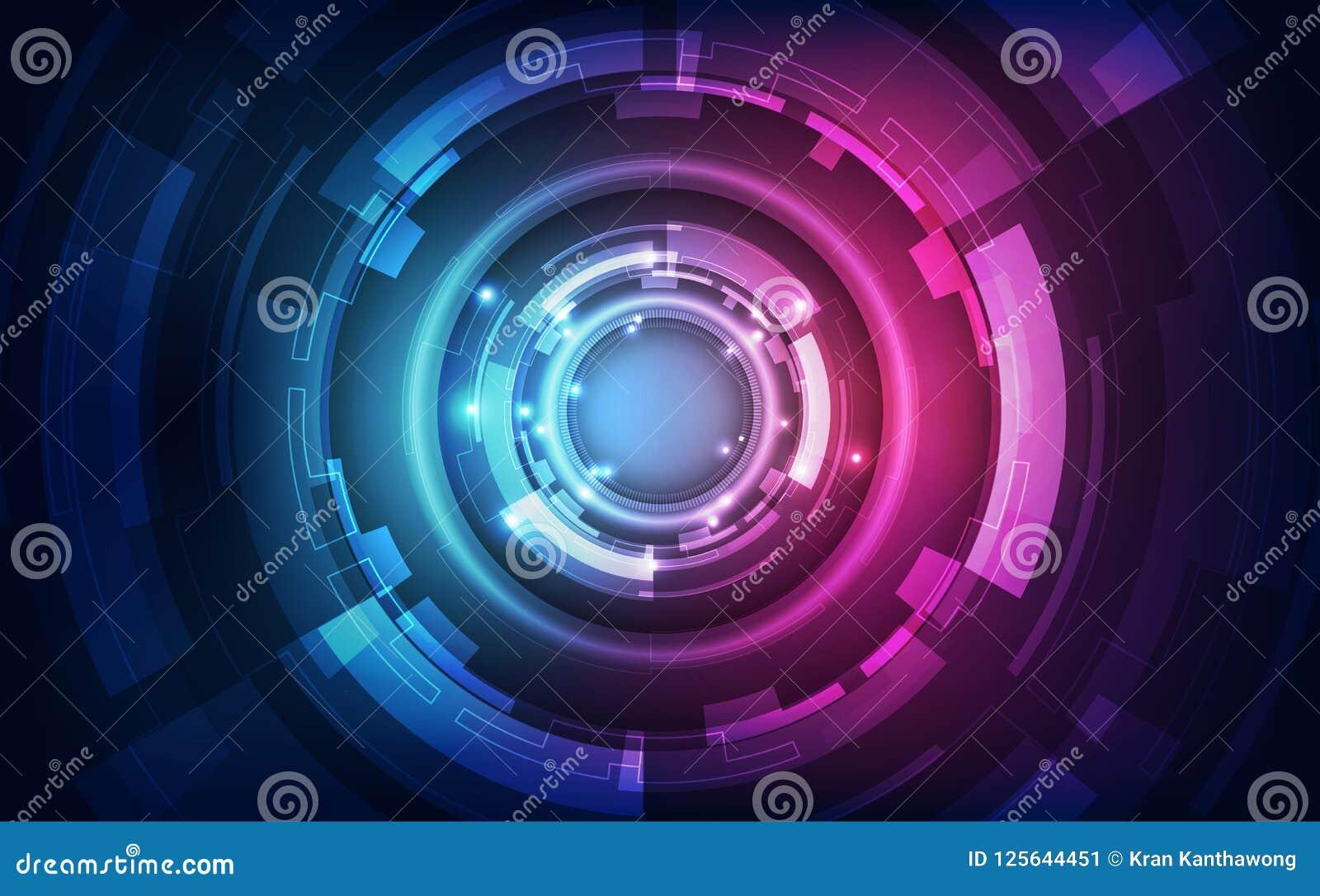 Абстрактная футуристическая предпосылка цифровой технологии вектор иллюстрации