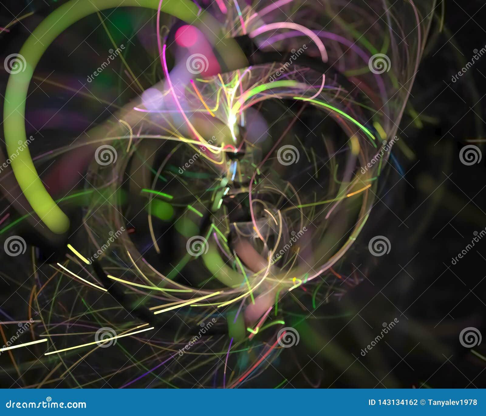 Абстрактная цифровая фракталь творческая, элемента шаблона свирли художественное декоративного футуристическое, элегантность, дин