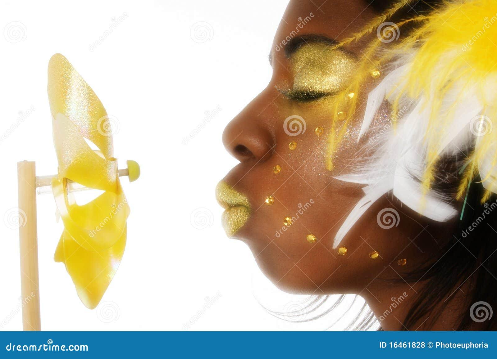 абстрактная чернота красотки афроамериканца