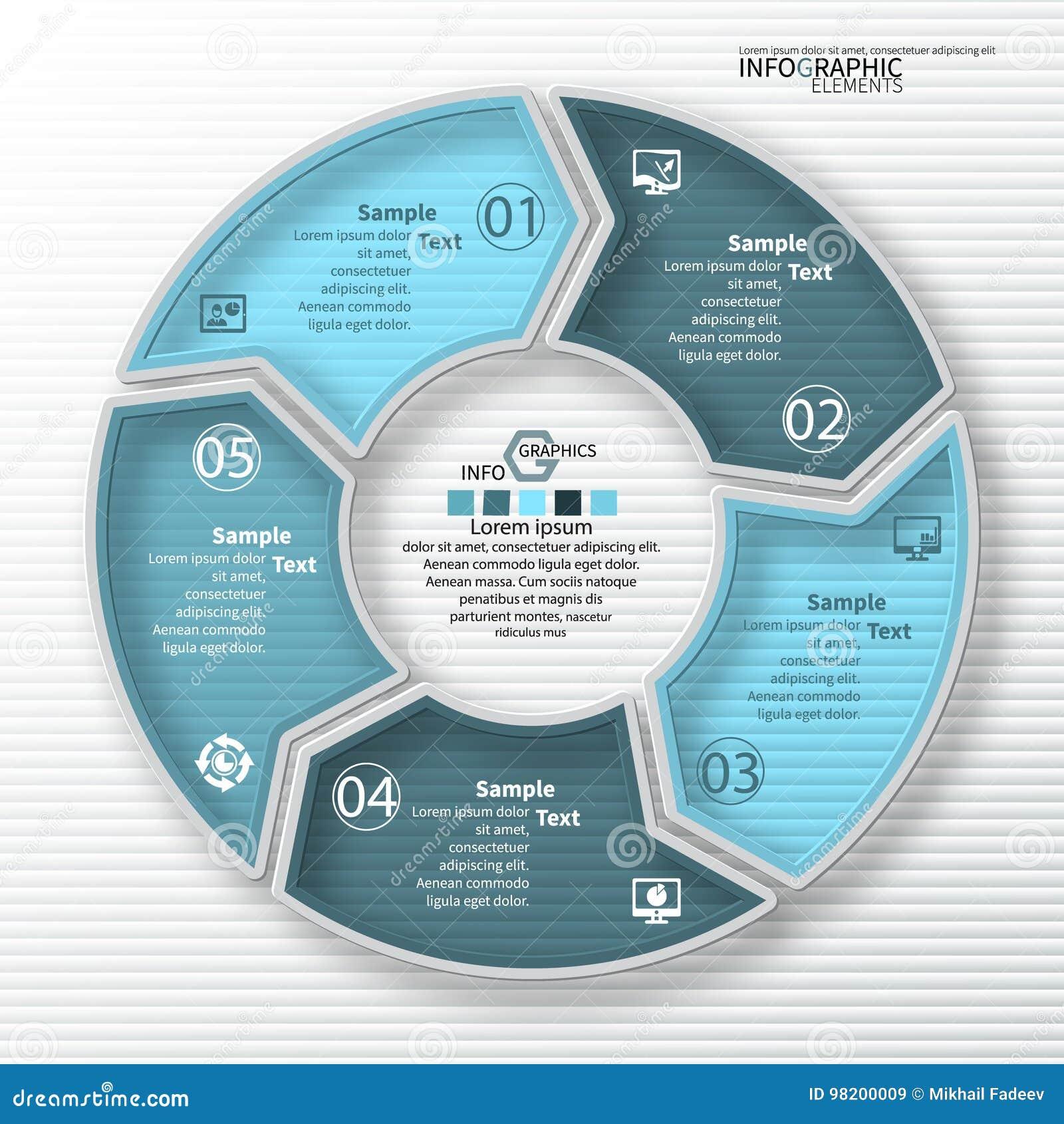 Download Абстрактная 3D бумага Infographics Иллюстрация вектора - иллюстрации насчитывающей backhoe, кругово: 98200009