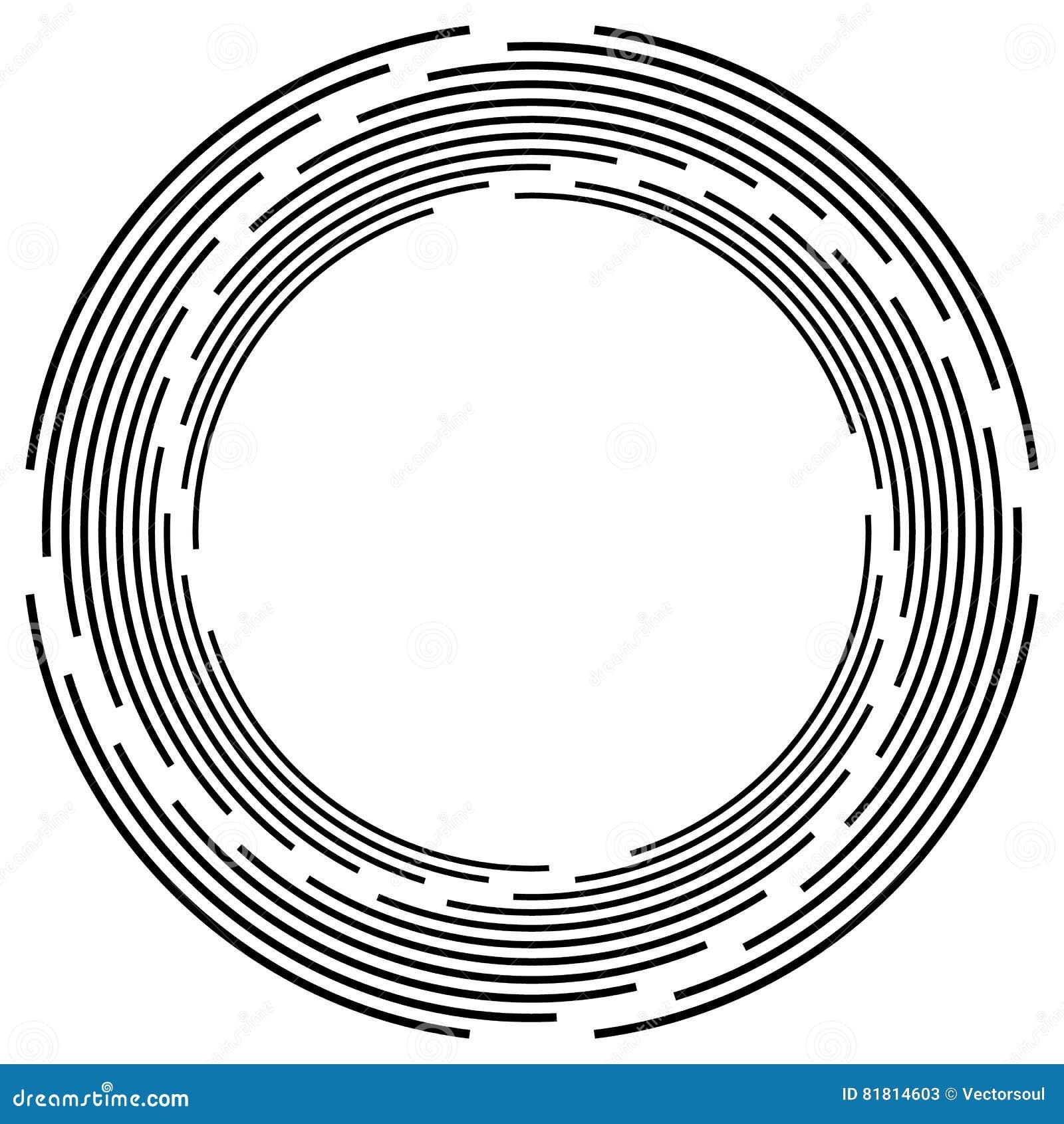 Абстрактная monochrome спираль, вортекс с радиальным, излучая круг