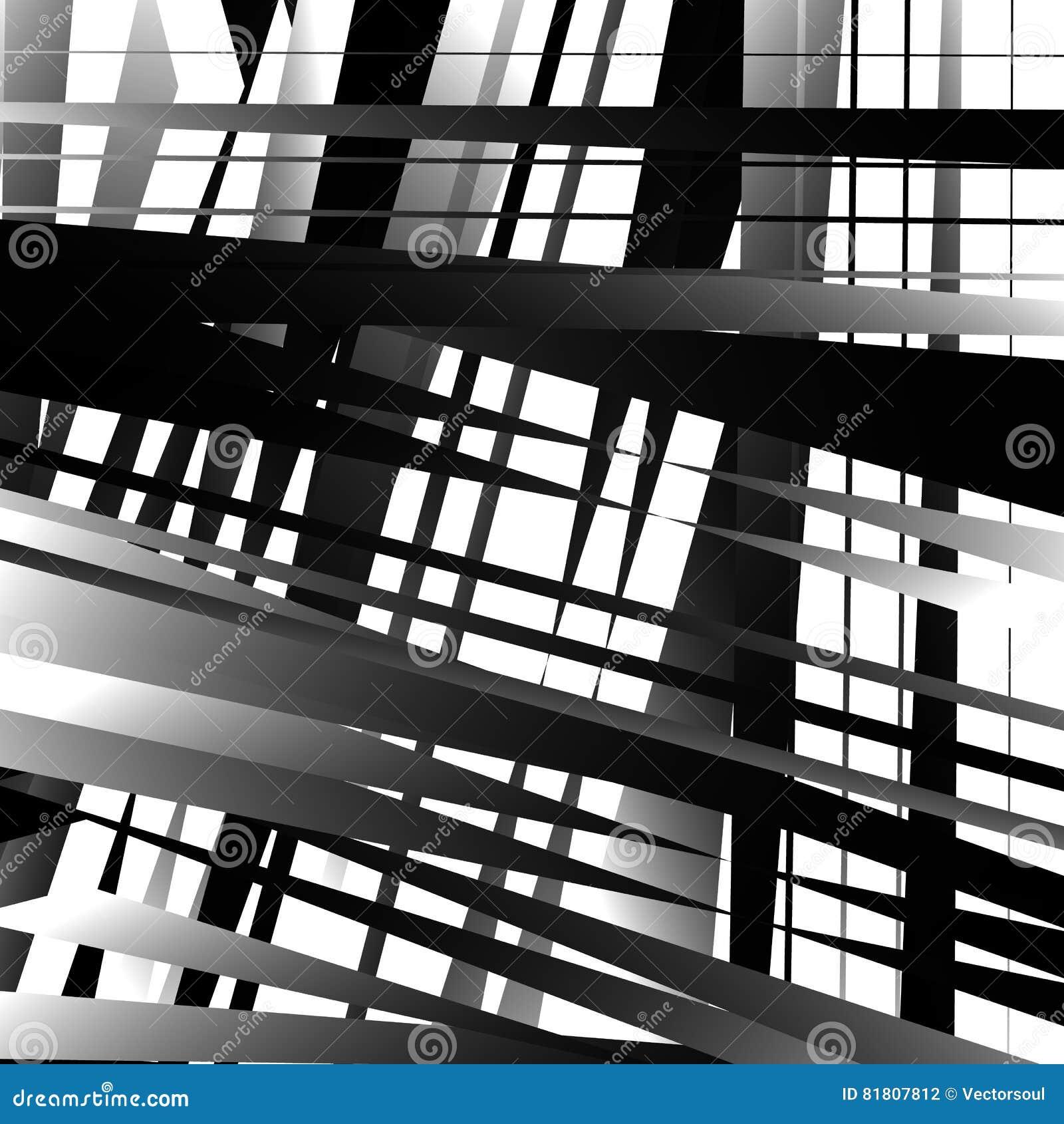 Абстрактное геометрическое искусство с нервными, угловыми формами Случайно заказ